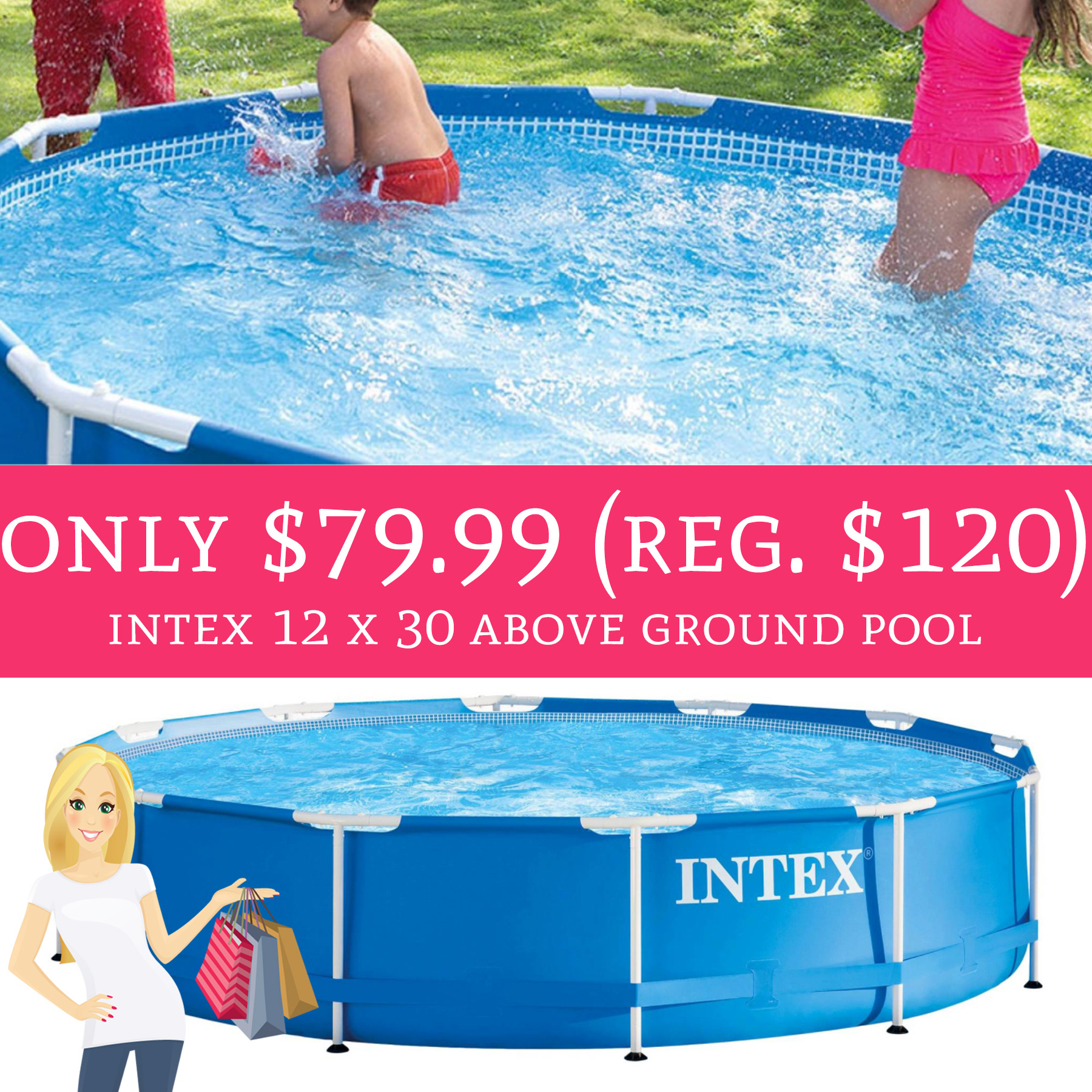 Wow only regular 120 intex 12 x 30 above ground for Intex pool 120 hoch