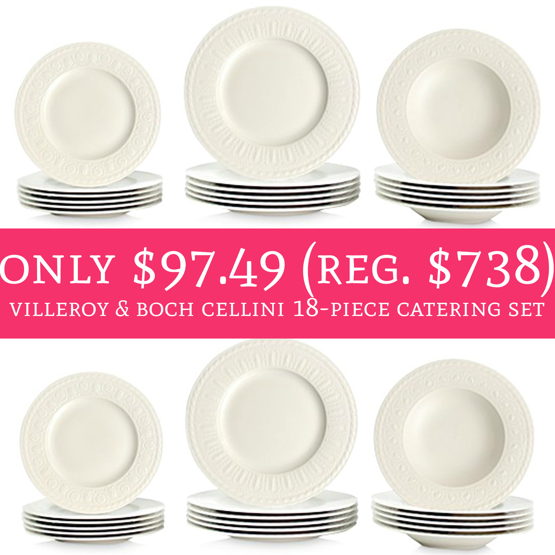 I just ordered mine!!  sc 1 st  Deal Hunting Babe & WOW! Only $97.49 (Regular $738) Villeroy u0026 Boch Cellini 18-Piece ...