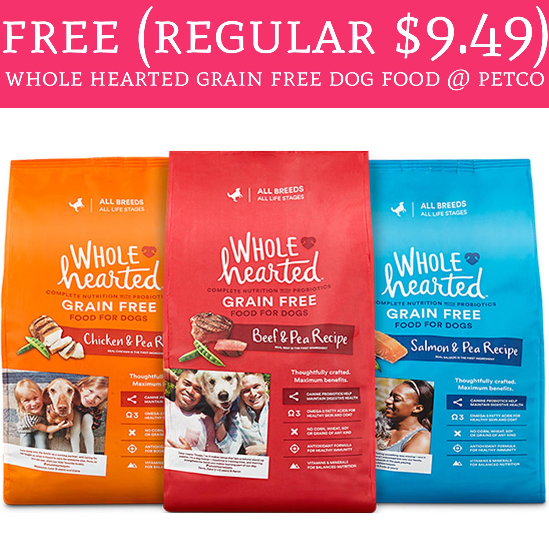Freeeee Regular 9 49 Whole Hearted Grain Free Dog Food