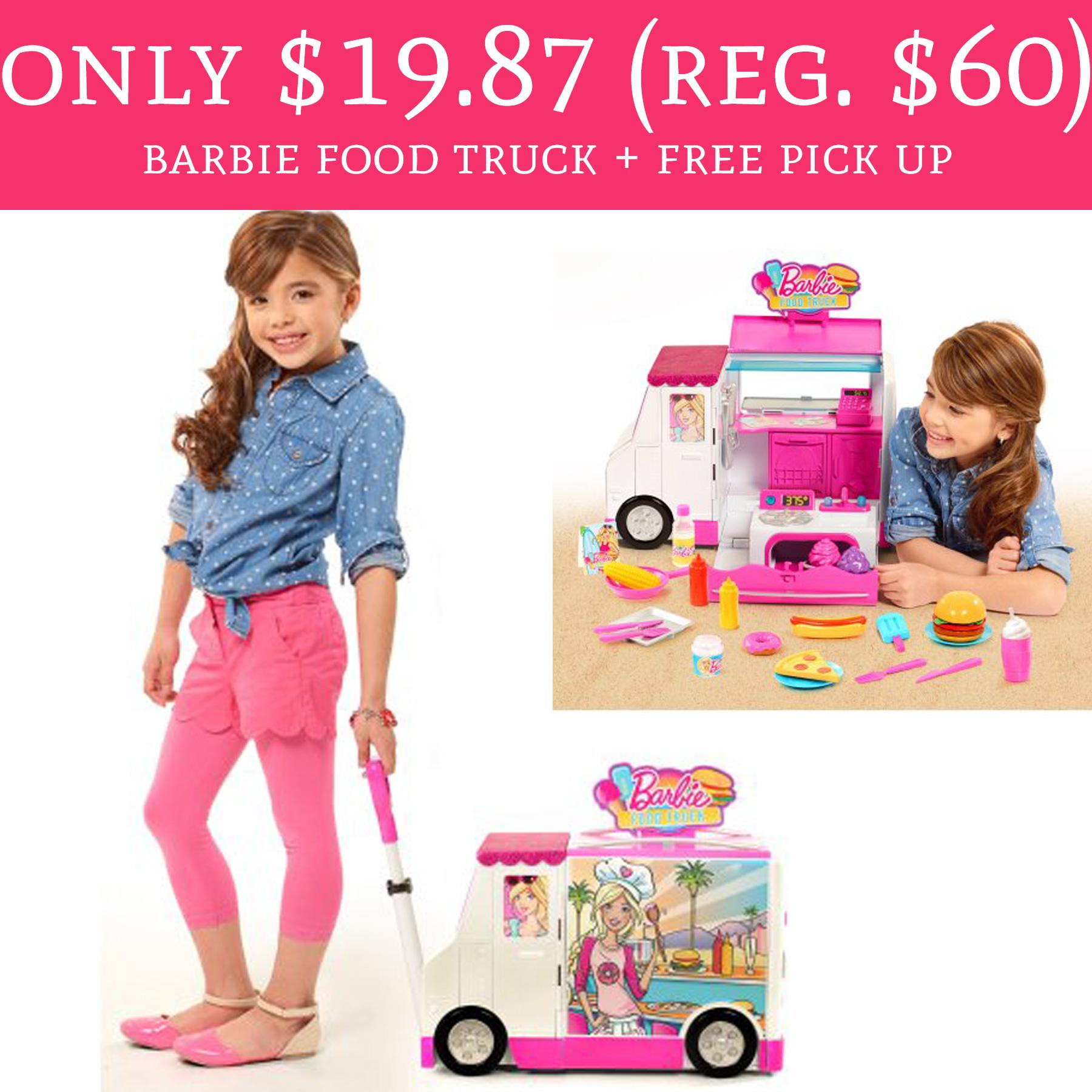 Hot Only 19 87 Regular 60 Barbie Food Truck Free