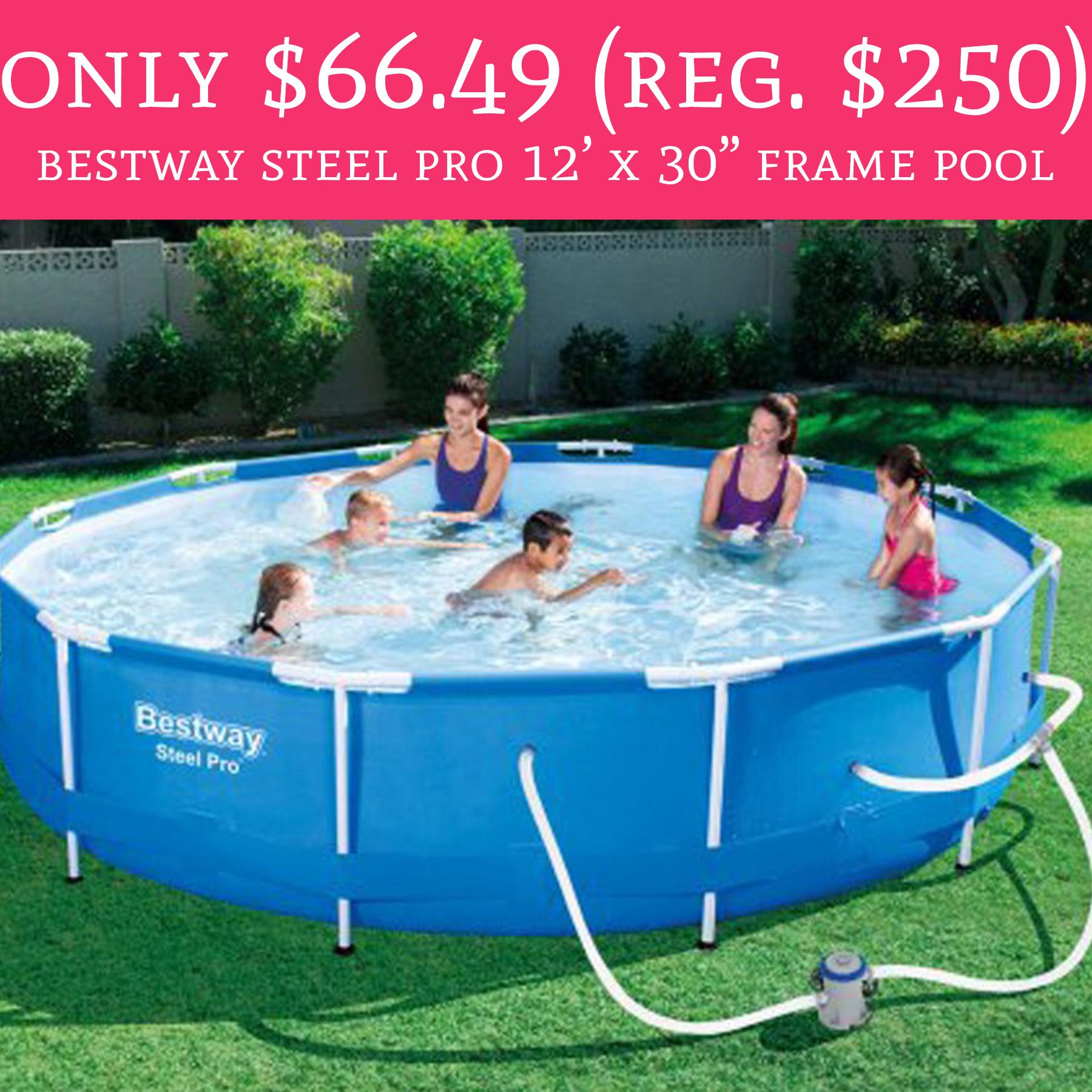 Hot only regular 250 bestway steel pro 12 39 x 30 for Bestway pools for sale