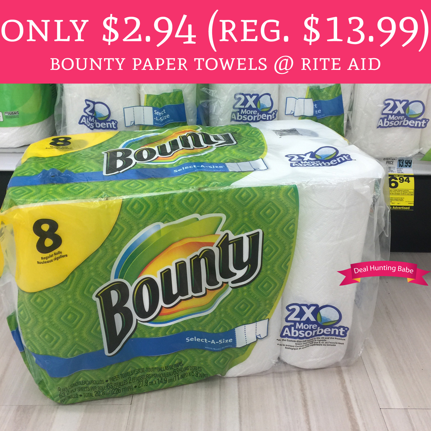 Rite Aid Stock Quote: PRINT! Only $2.94 (Regular $13.99) Bounty Paper Towels