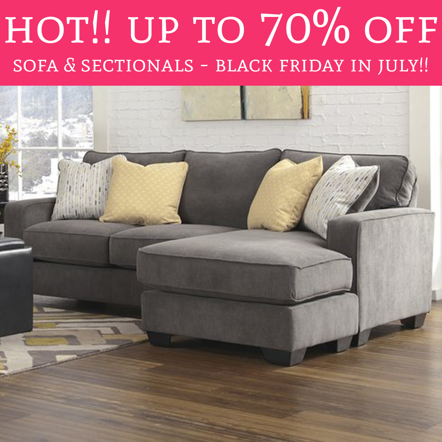 HOT Black Friday In July – Up To 70% f Sofa & Sectionals
