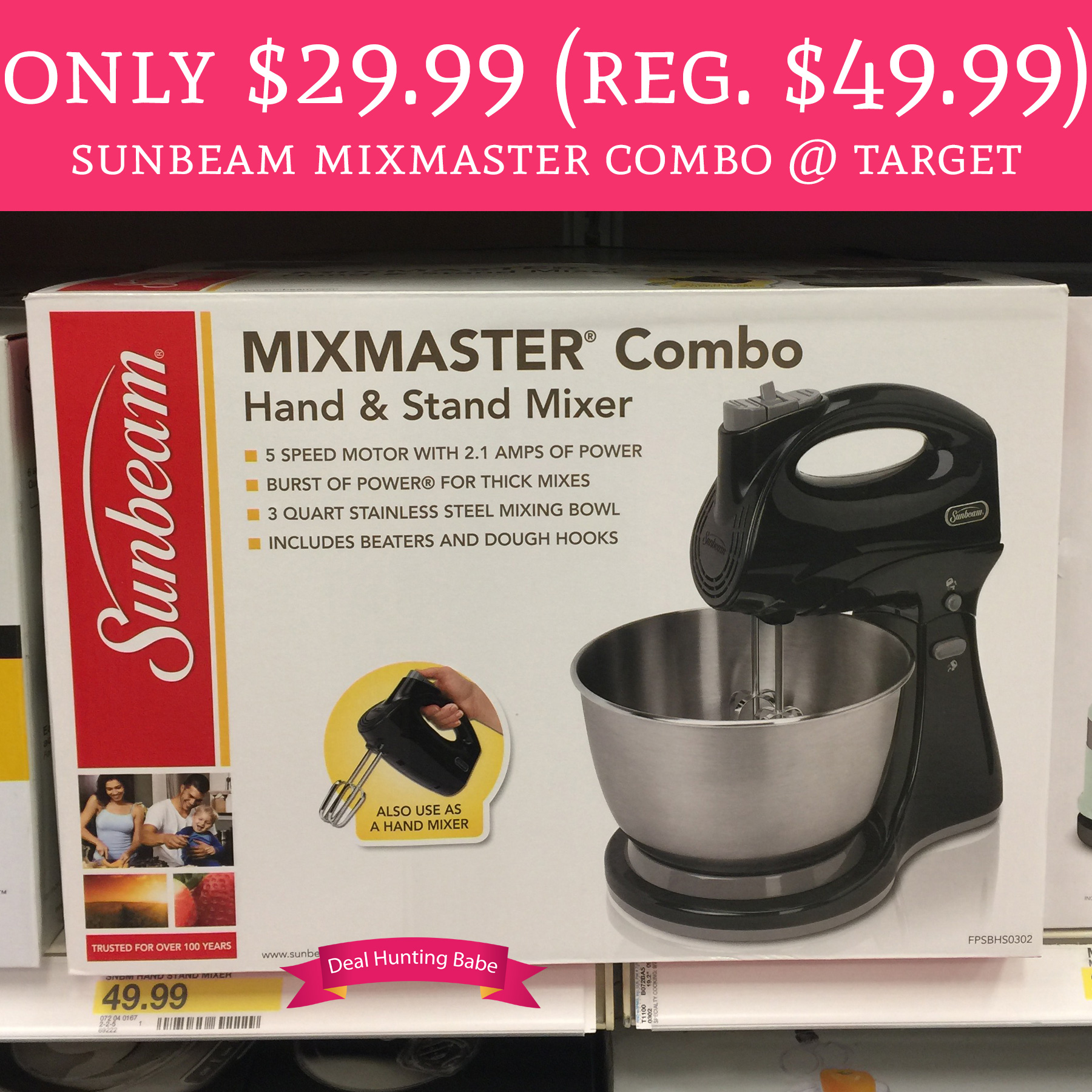 Only 29 99 Regular 49 99 Sunbeam Mixmaster Combo