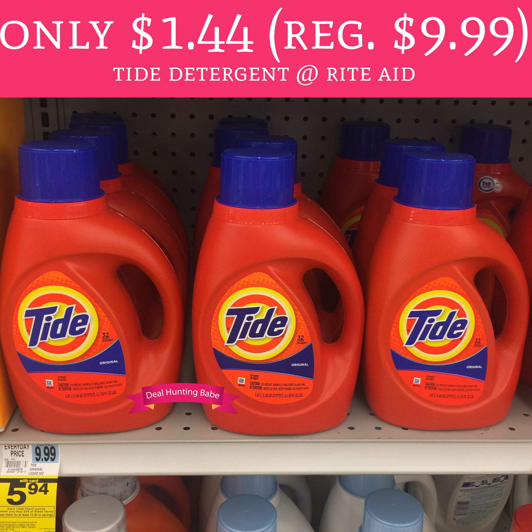 Rite Aid Stock Quote: HOT! Only $1.44 (Regular $9.99) Tide Detergent @ Rite Aid
