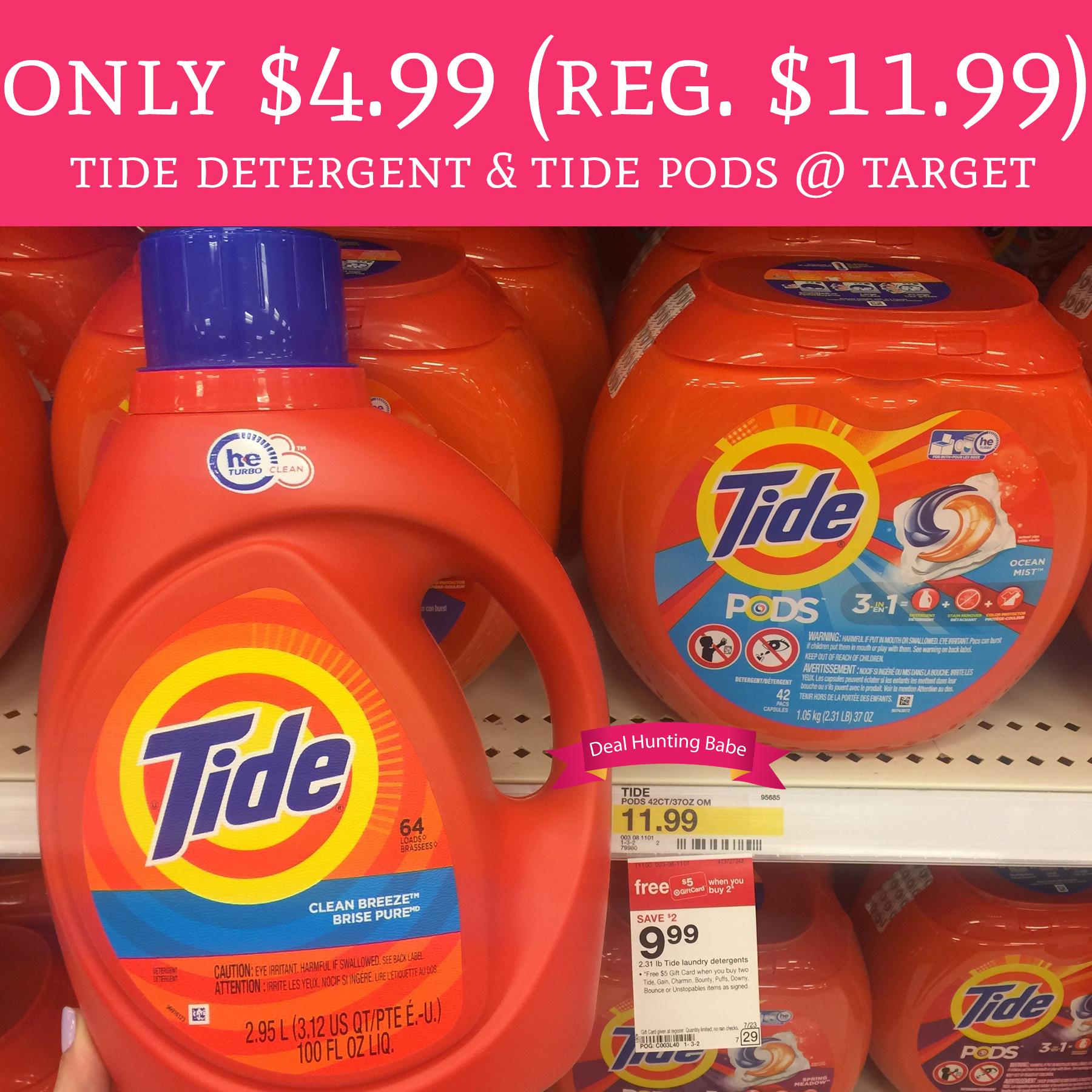 Only 4 99 Regular 11 99 Tide Detergent Amp Tide Pods