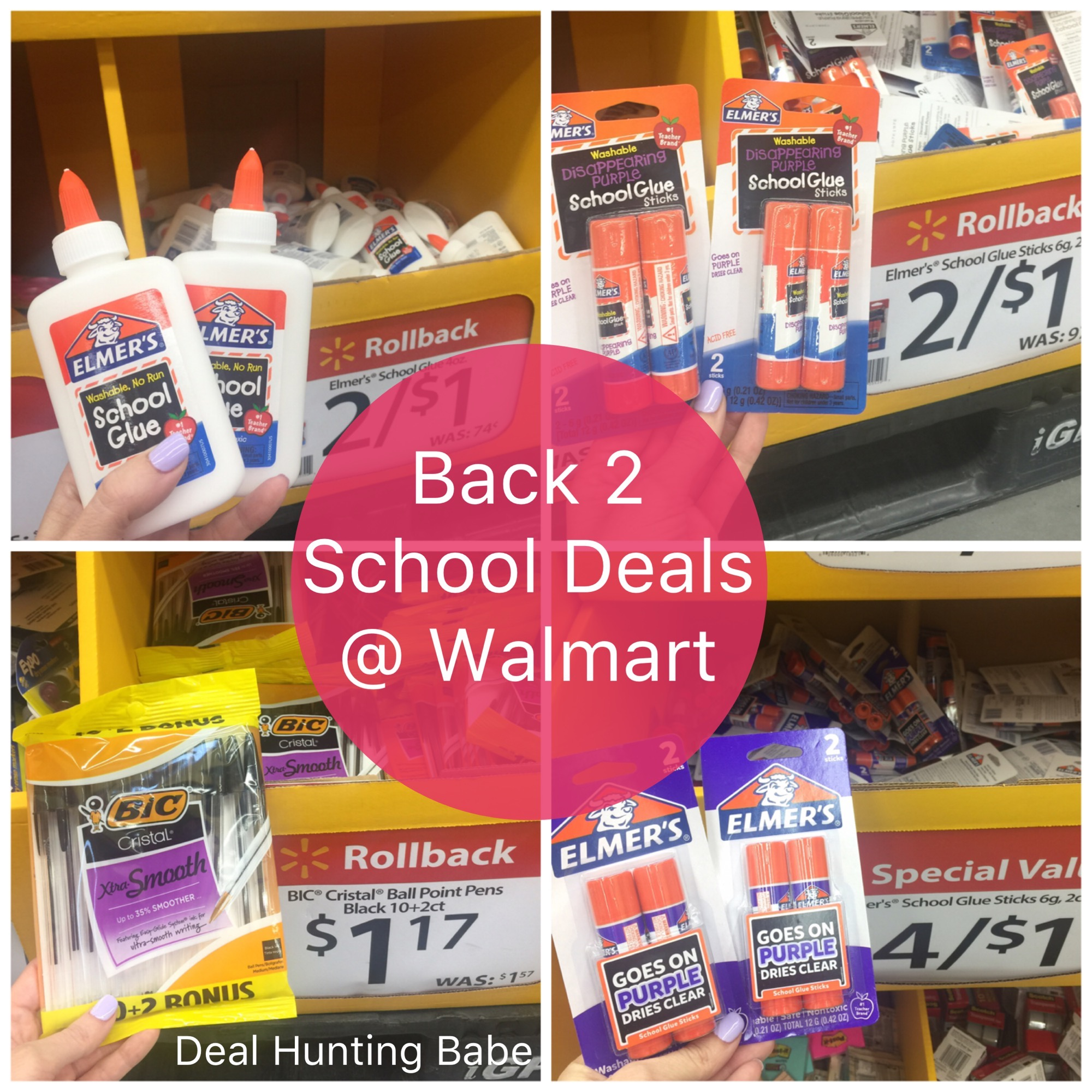 Hot Back 2 School Deals Only 0 17 Regular 0 74 Elmers School Glue Walmart Deal Hunting Babe