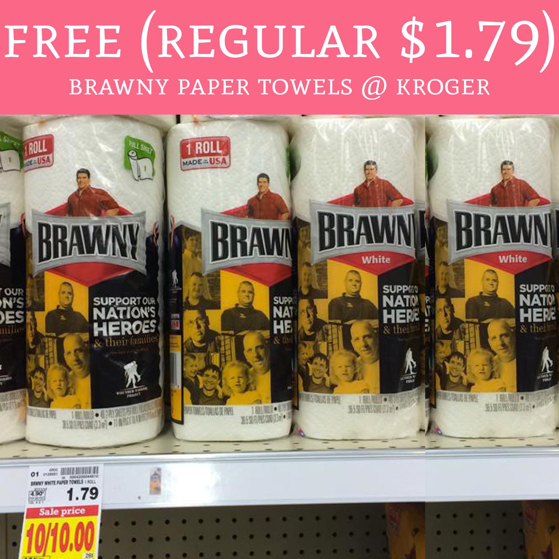 Brawny Paper Towels Single Roll