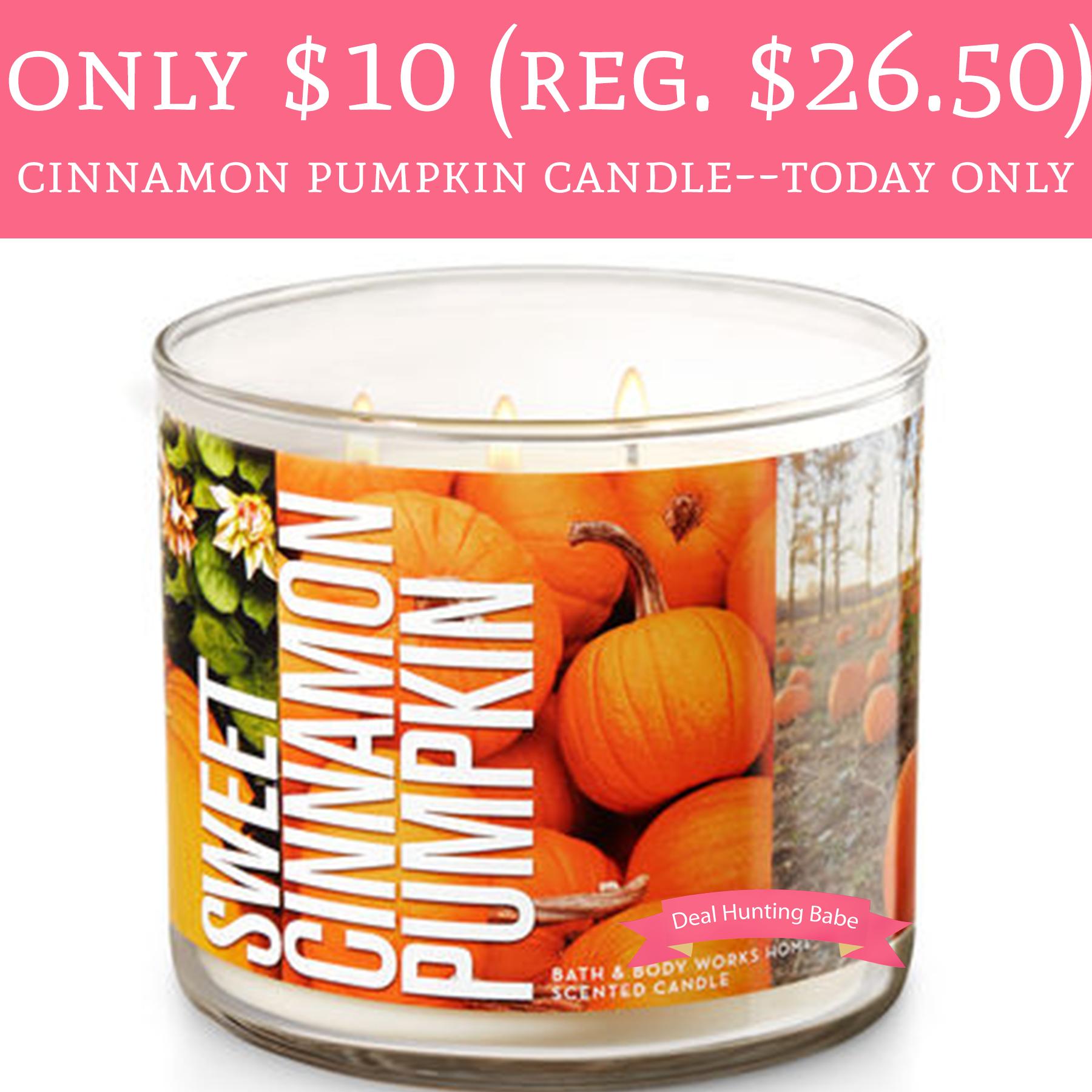 Only 10 Regular 2650 Sweet Cinnamon Pumpkin Candles At Bath And