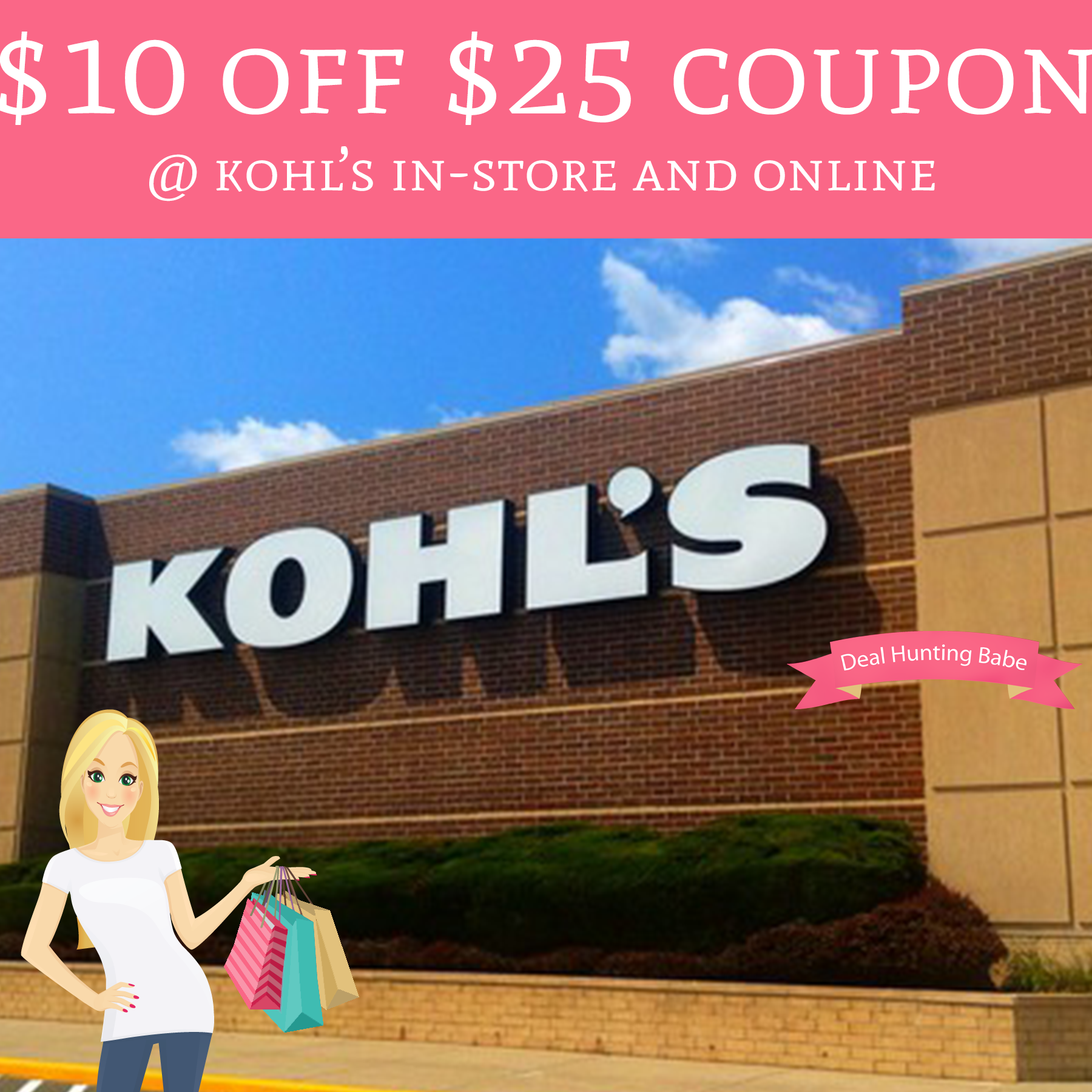It is a graphic of Epic Kohls 10 Off 25 Printable Coupon