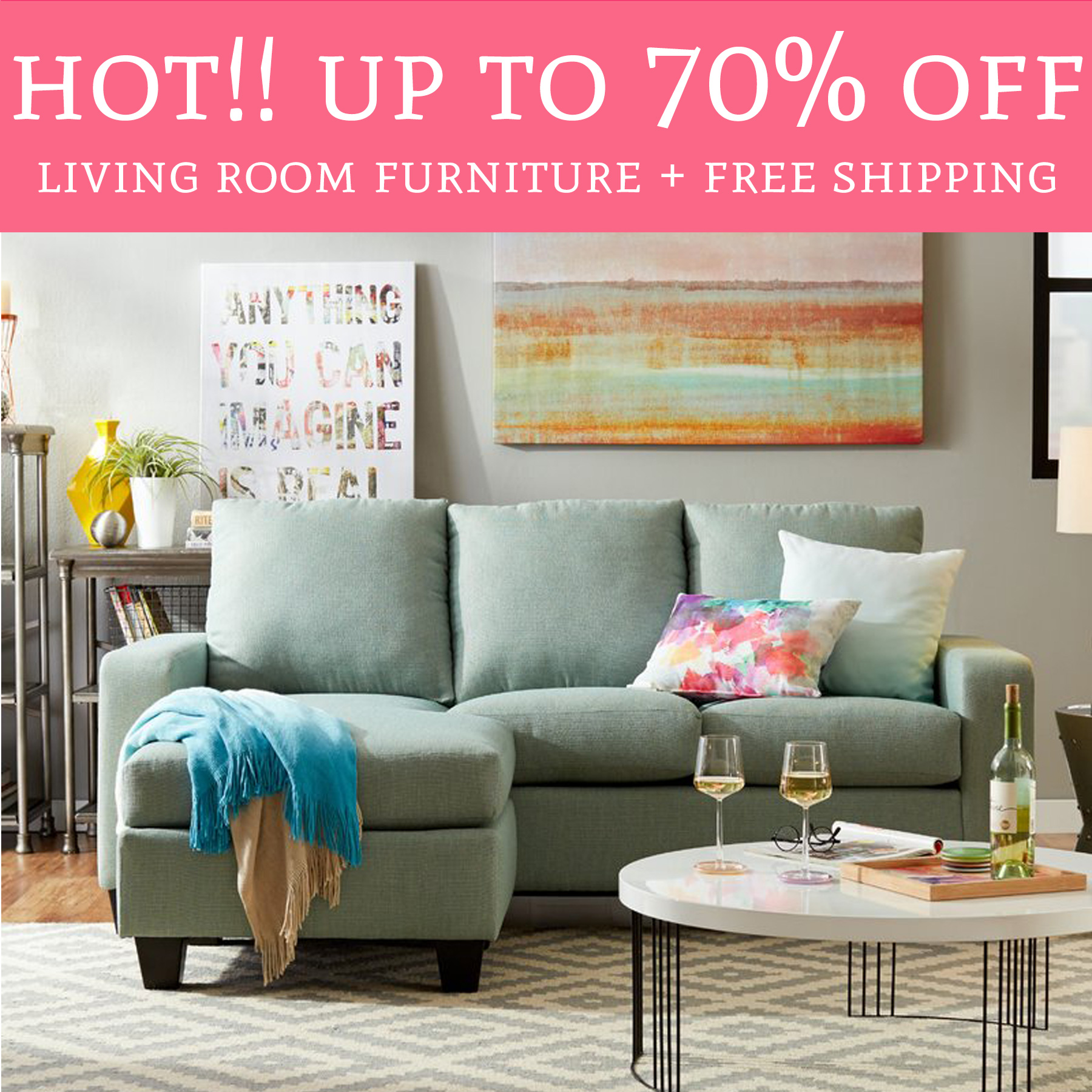 Living room furniture free shipping whoa up to 70 living for Deal rooms furniture