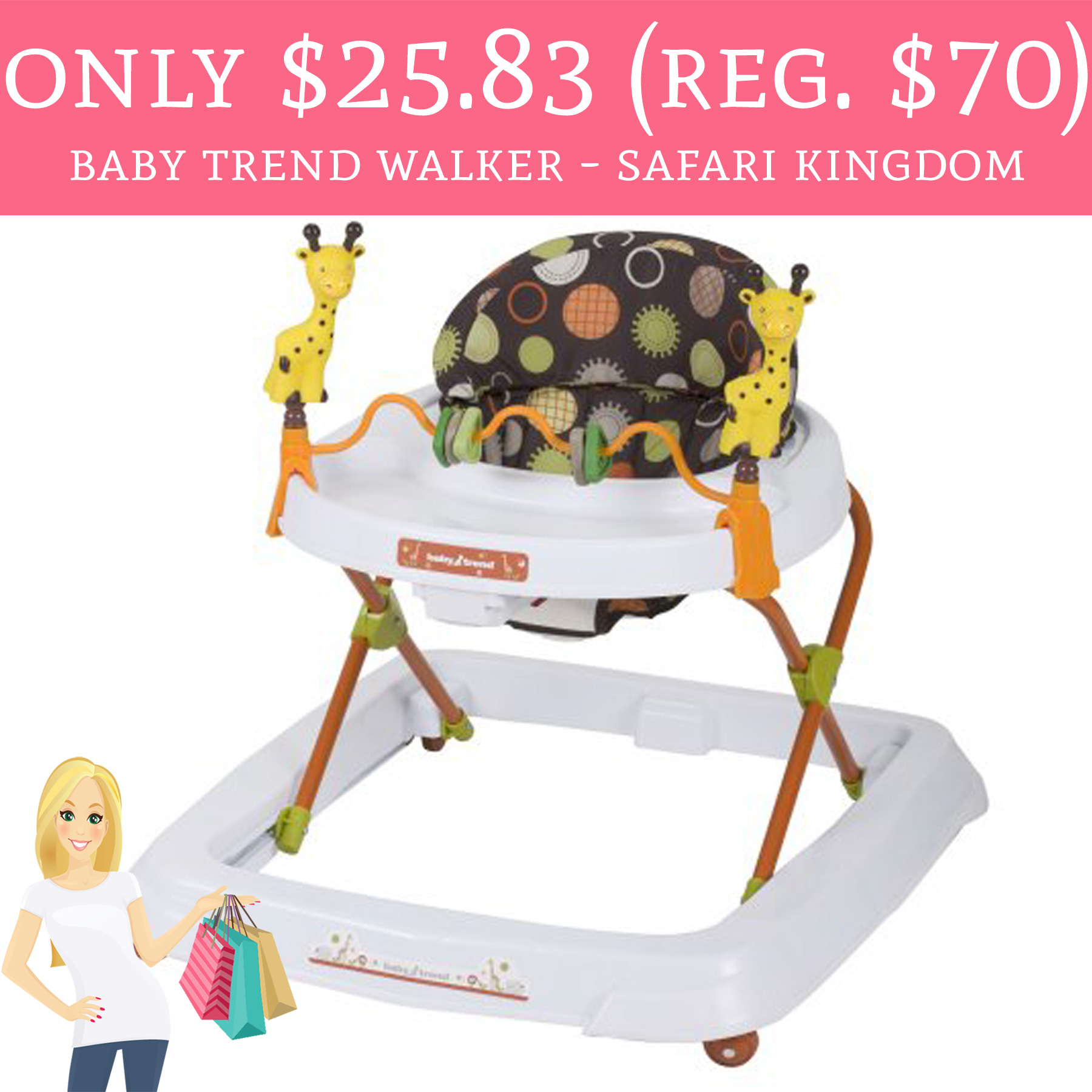 Only 25 83 Regular 70 Baby Trend Walker Safari