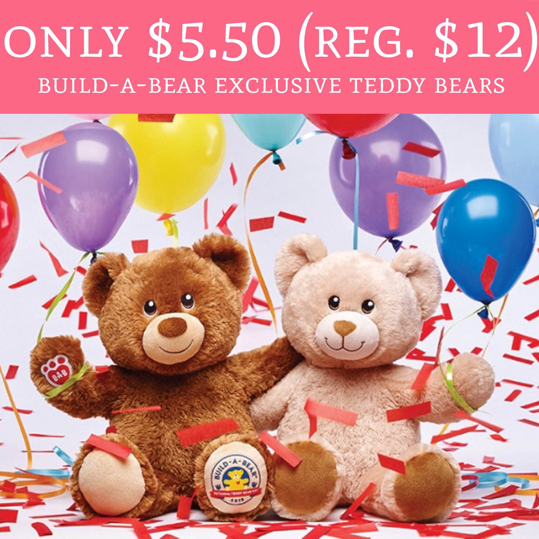hot only regular 12 build a bear exclusive teddy bears deal hunting babe. Black Bedroom Furniture Sets. Home Design Ideas
