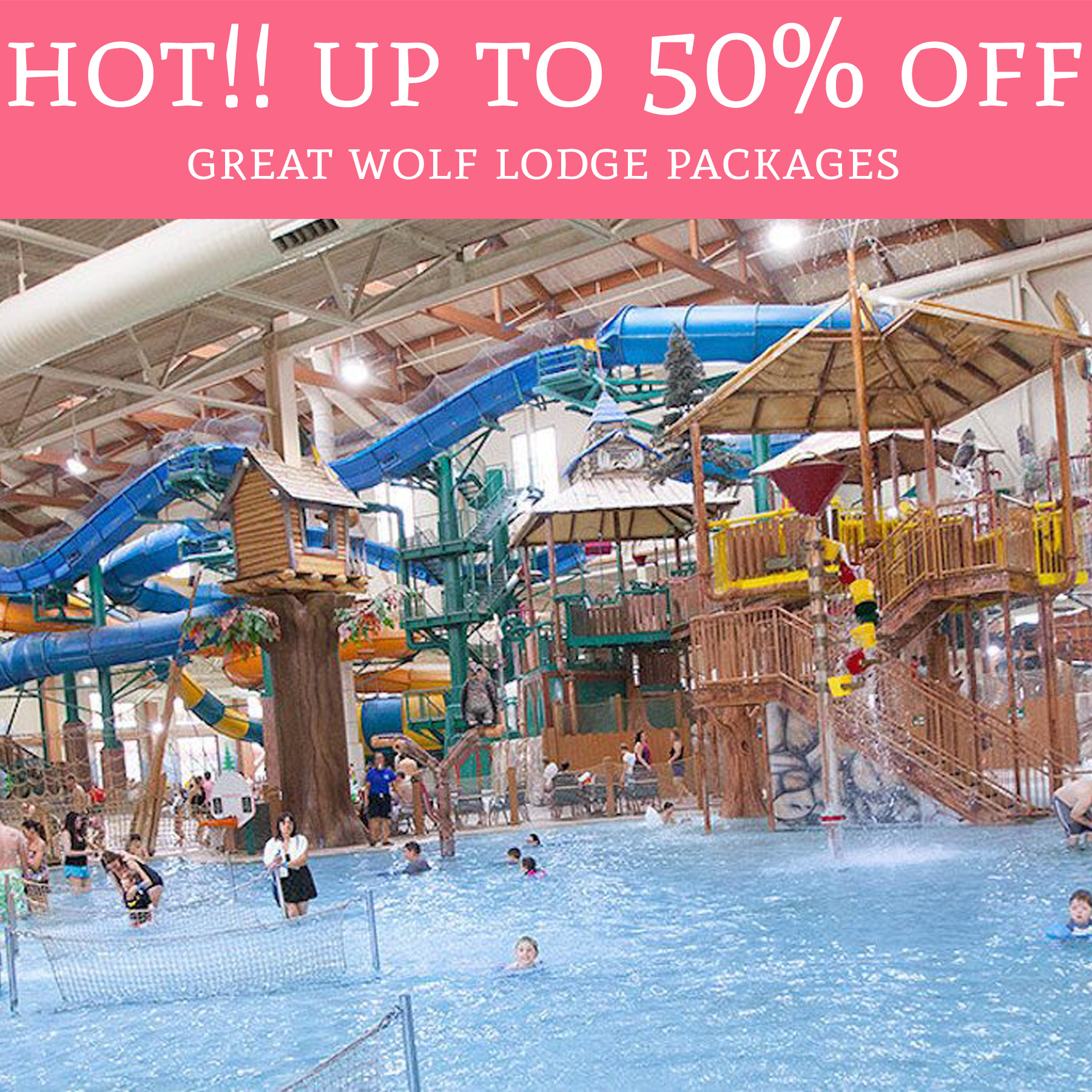 Wow Up To 50 Off Great Wolf Lodge Packages Deal