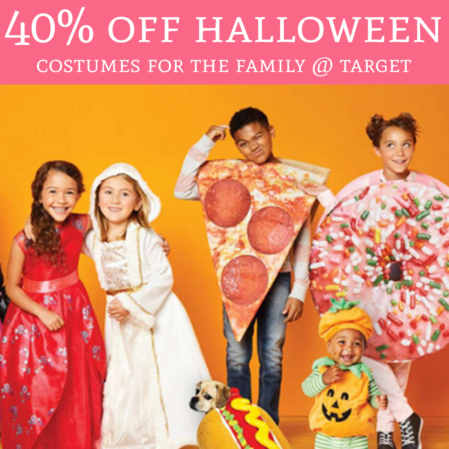 Perfect time to grab Halloween Costumes!  sc 1 st  Deal Hunting Babe & HOT! 40% Off Halloween Costumes For The Family @ Target - Deal ...
