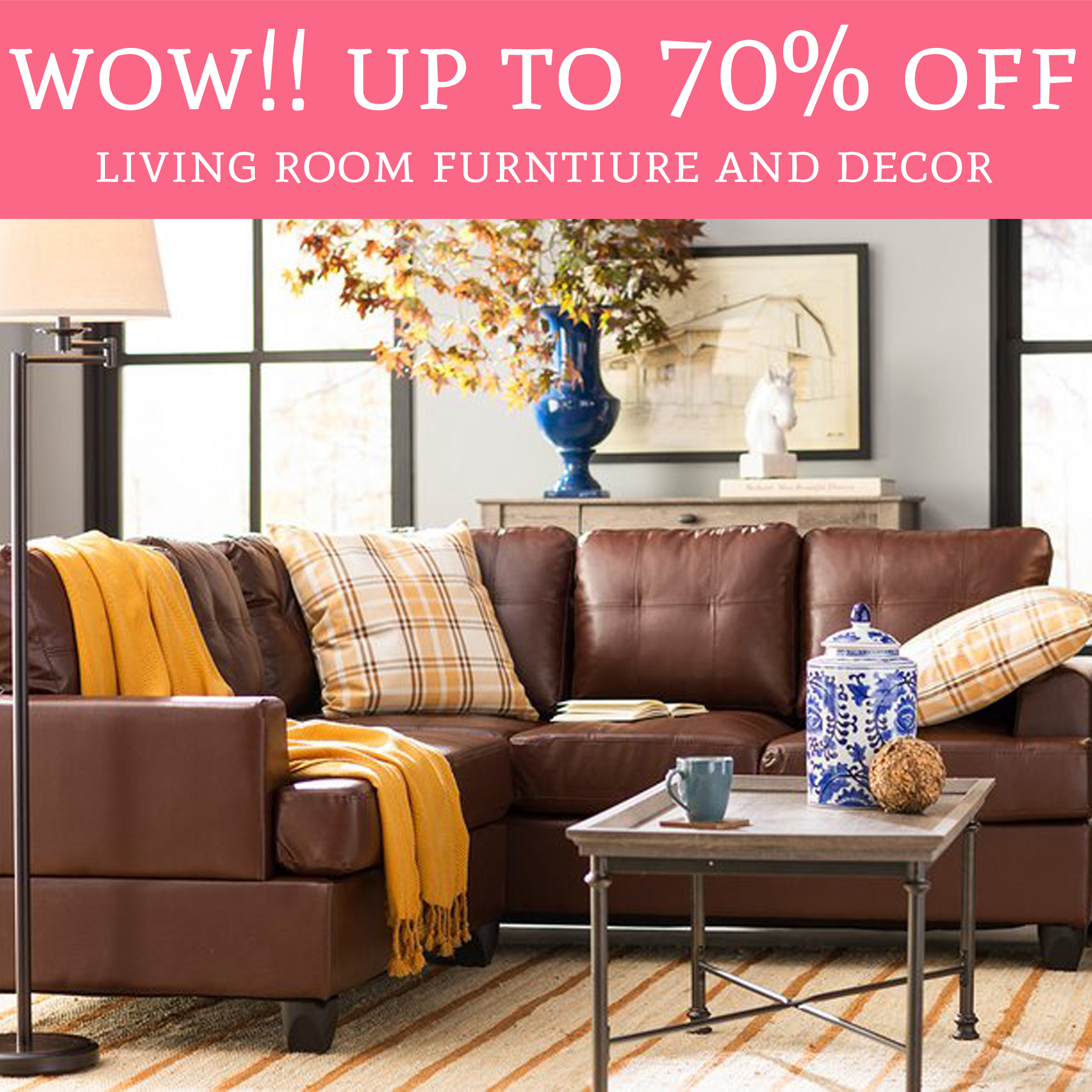 Hot Up To 70 Off Living Room Furniture And Decor Deal