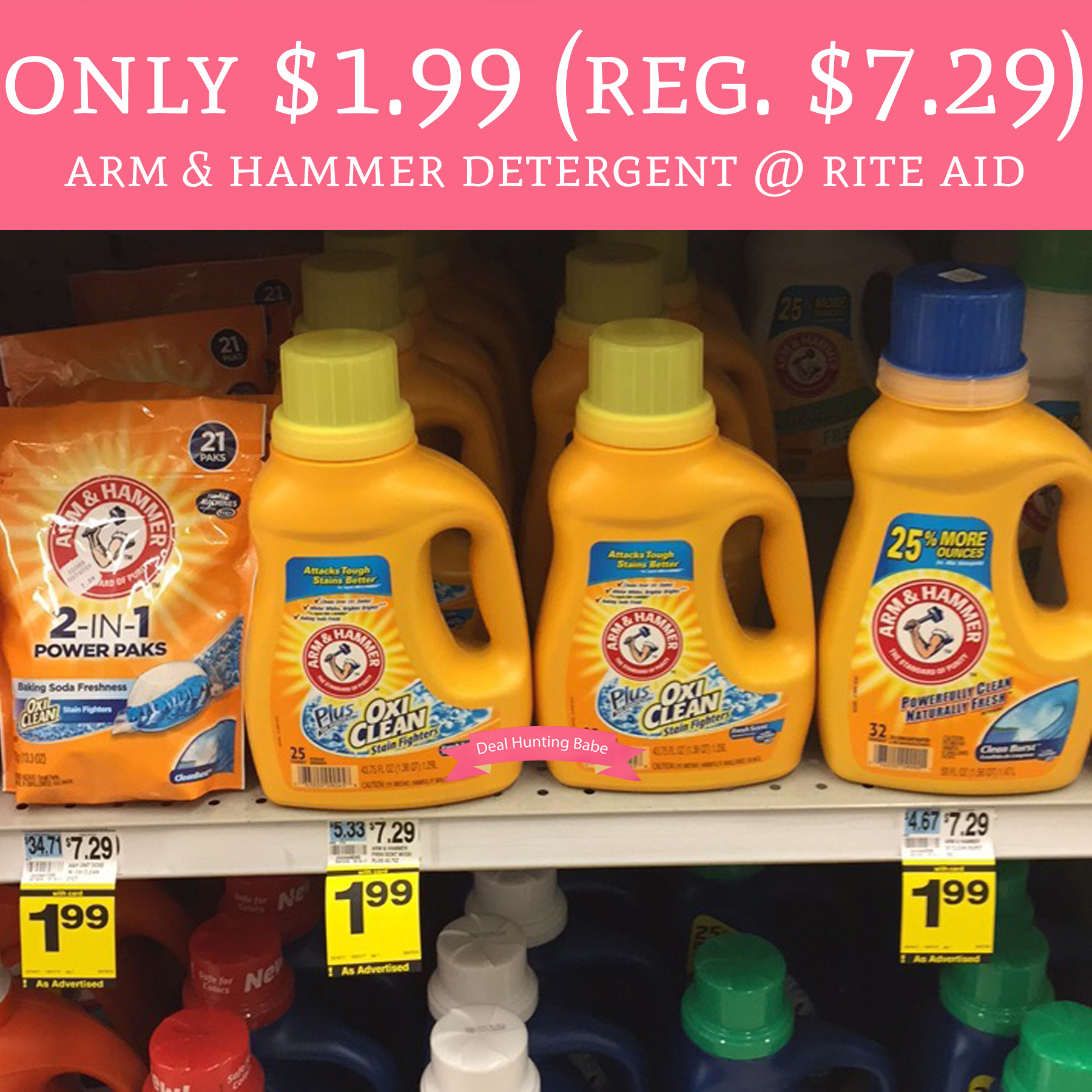 Rite Aid Stock Quote: Only $1.99 (Regular $7.29) Arm & Hammer Detergent @ Rite