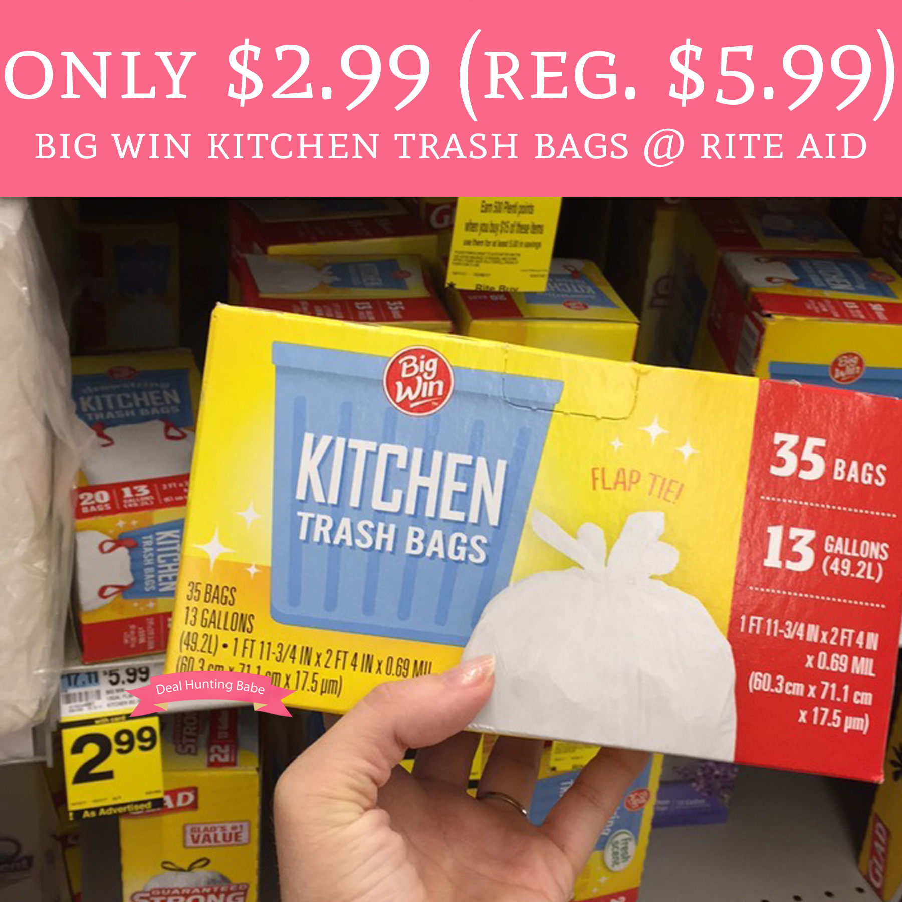 Only $2.99 (Regular $5.99) Big Wing Kitchen Trash Bags ...