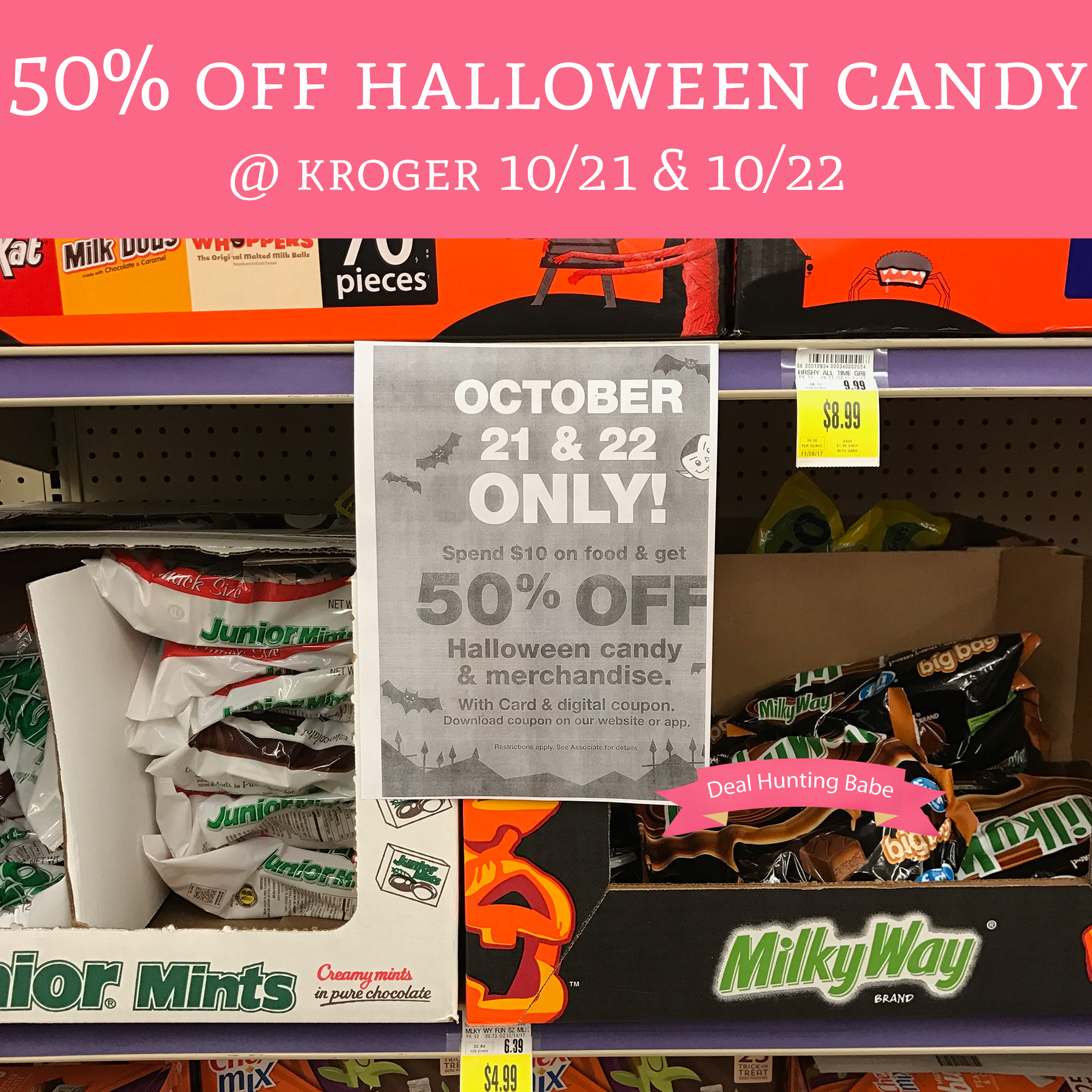 50 off halloween candy