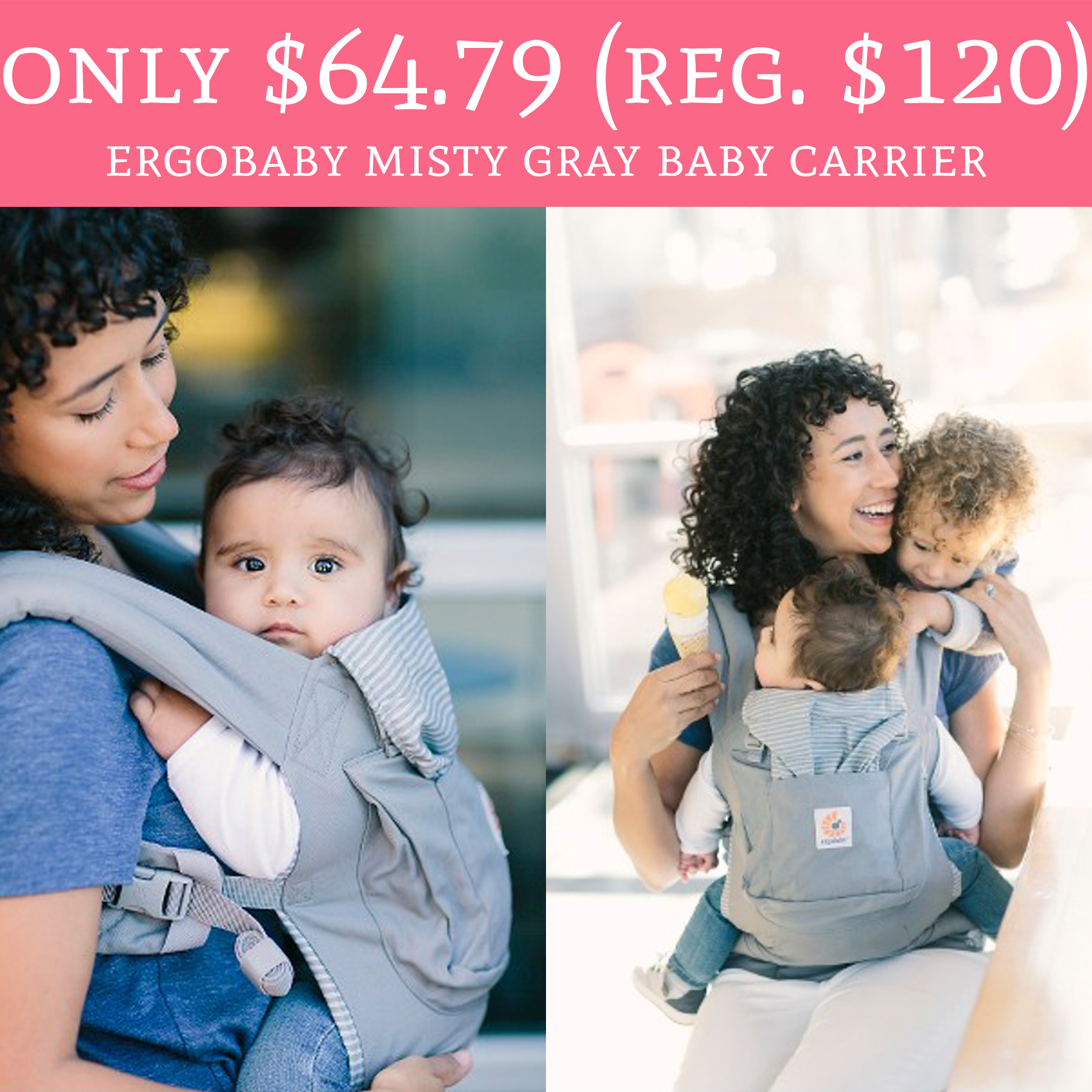 Only 64 79 Regular 120 Ergobaby Misty Gray Baby