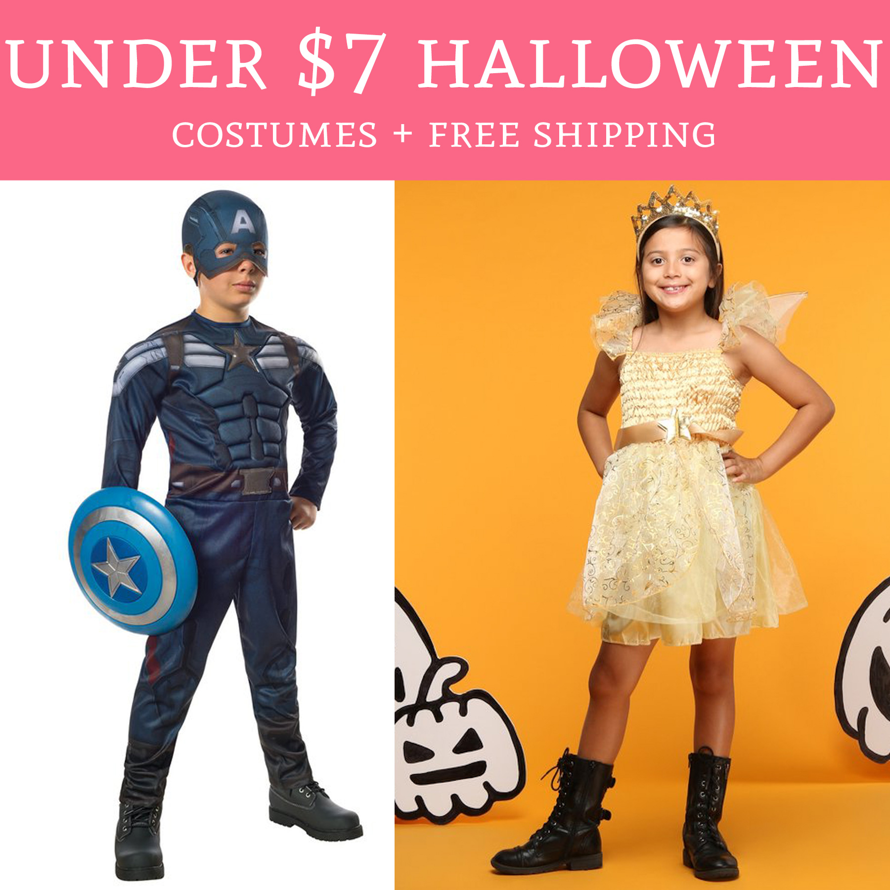 hot! under $7 halloween costumes + free shipping - deal hunting babe