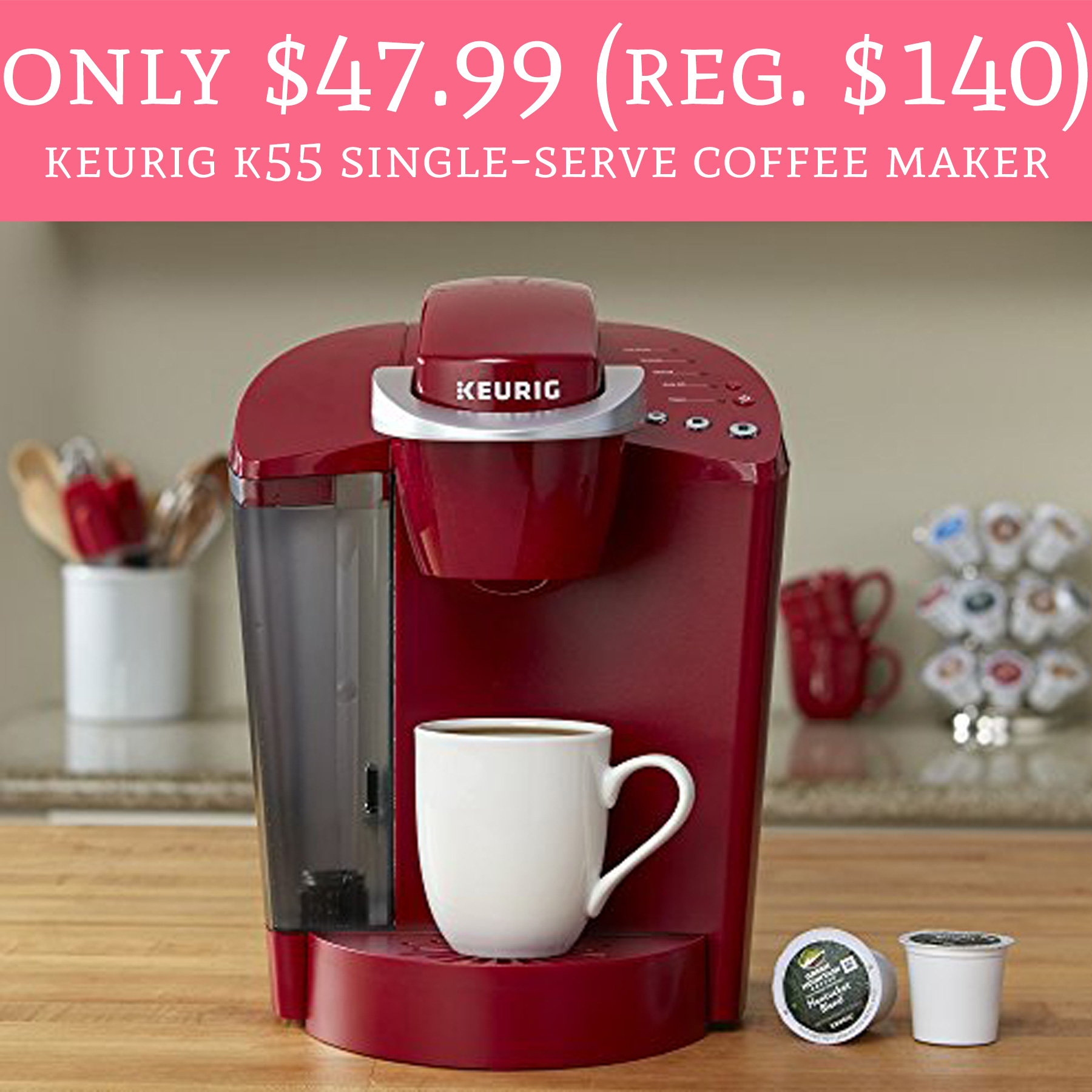 Single Serve Coffee Maker Deals : HOT! Only USD 47.99 (Regular USD 140) Keurig K55 Single-Serve Coffee Maker - Deal Hunting Babe