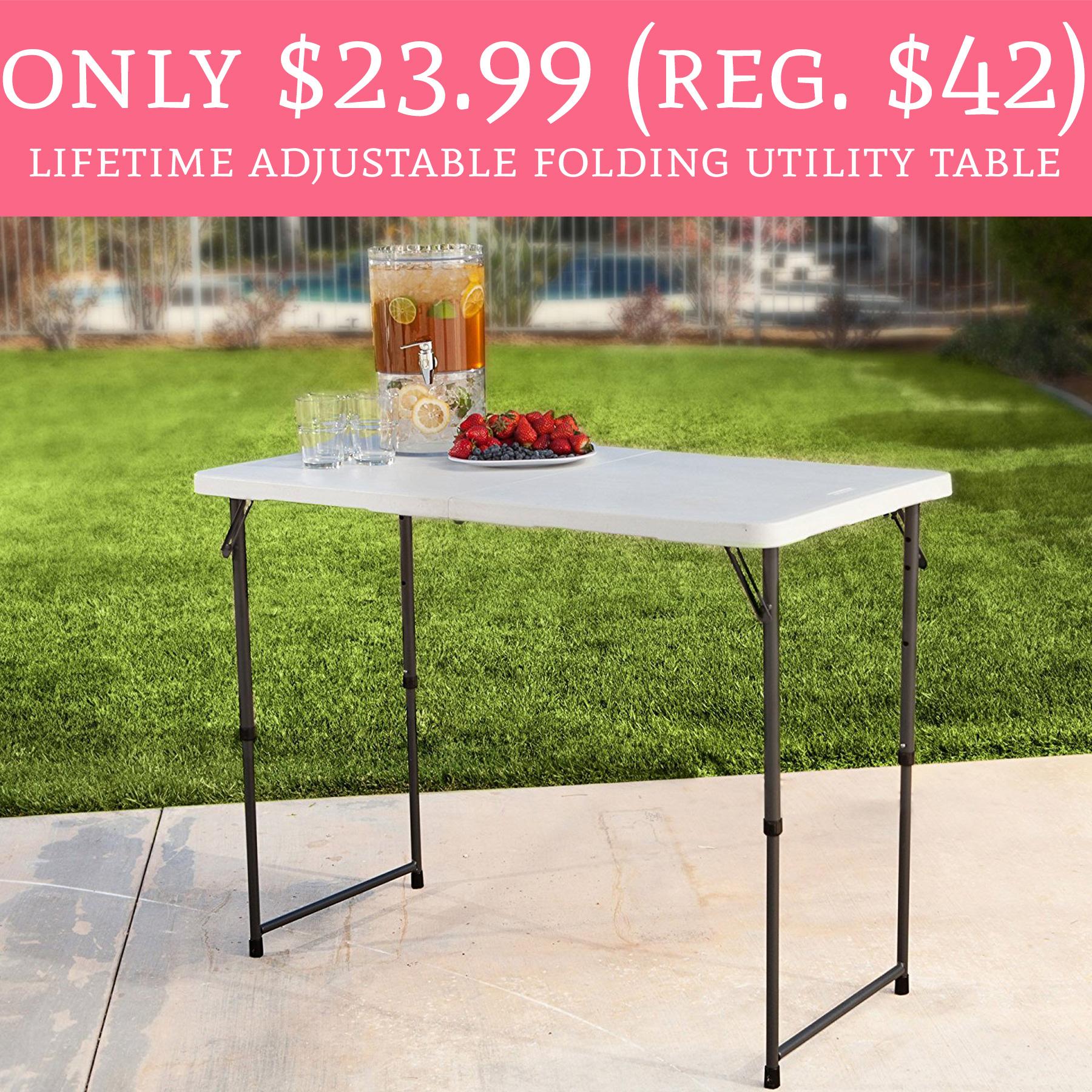 WOW ly $23 99 Regular $42 Lifetime Adjustable Folding Utility