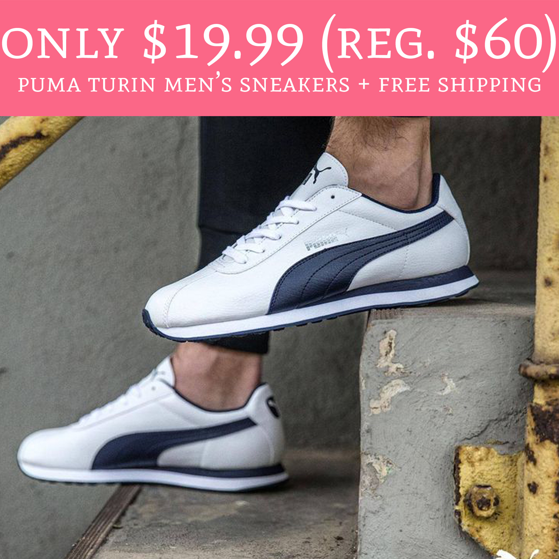 21e9f69e1ca1f8 HOT! Only  19.99 (Regular  60) Puma Turin Men s Sneakers + Free ...
