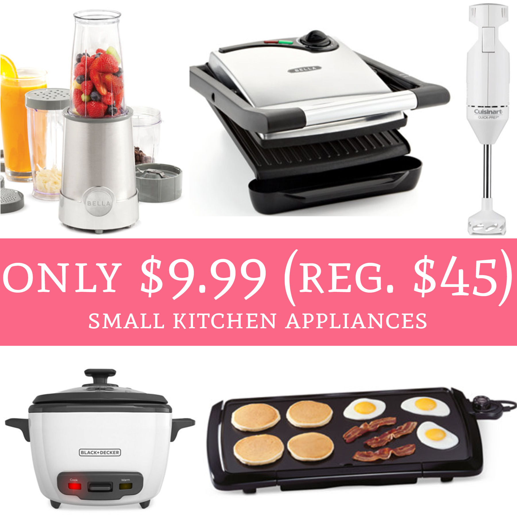 HOT! Only $9.99 Regular $45 Small Kitchen Appliances!  Deal Hunting Babe