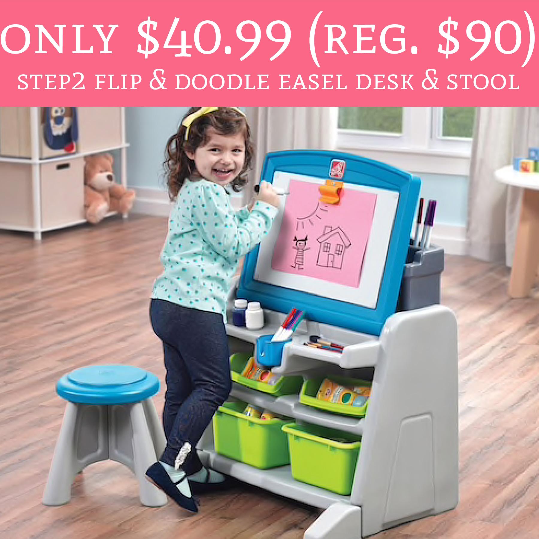 Only 40 99 Regular 90 Step2 Flip Amp Doodle Easel Desk