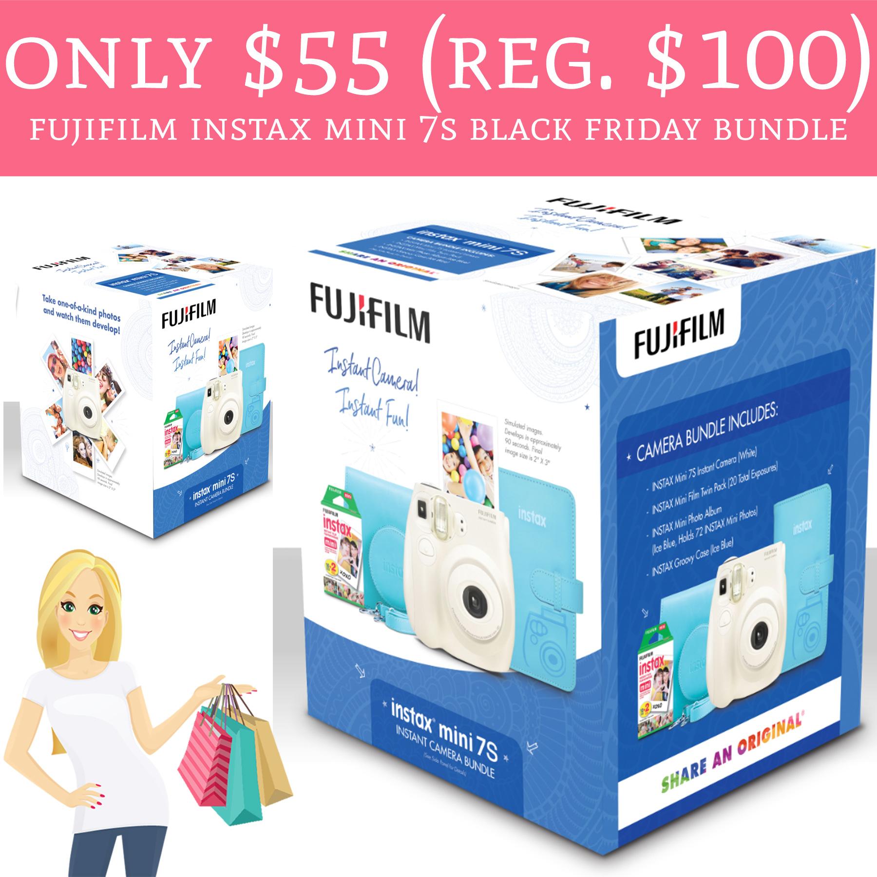 only 55 regular 100 fujifilm instax mini 7s black friday bundle deal hunting babe. Black Bedroom Furniture Sets. Home Design Ideas