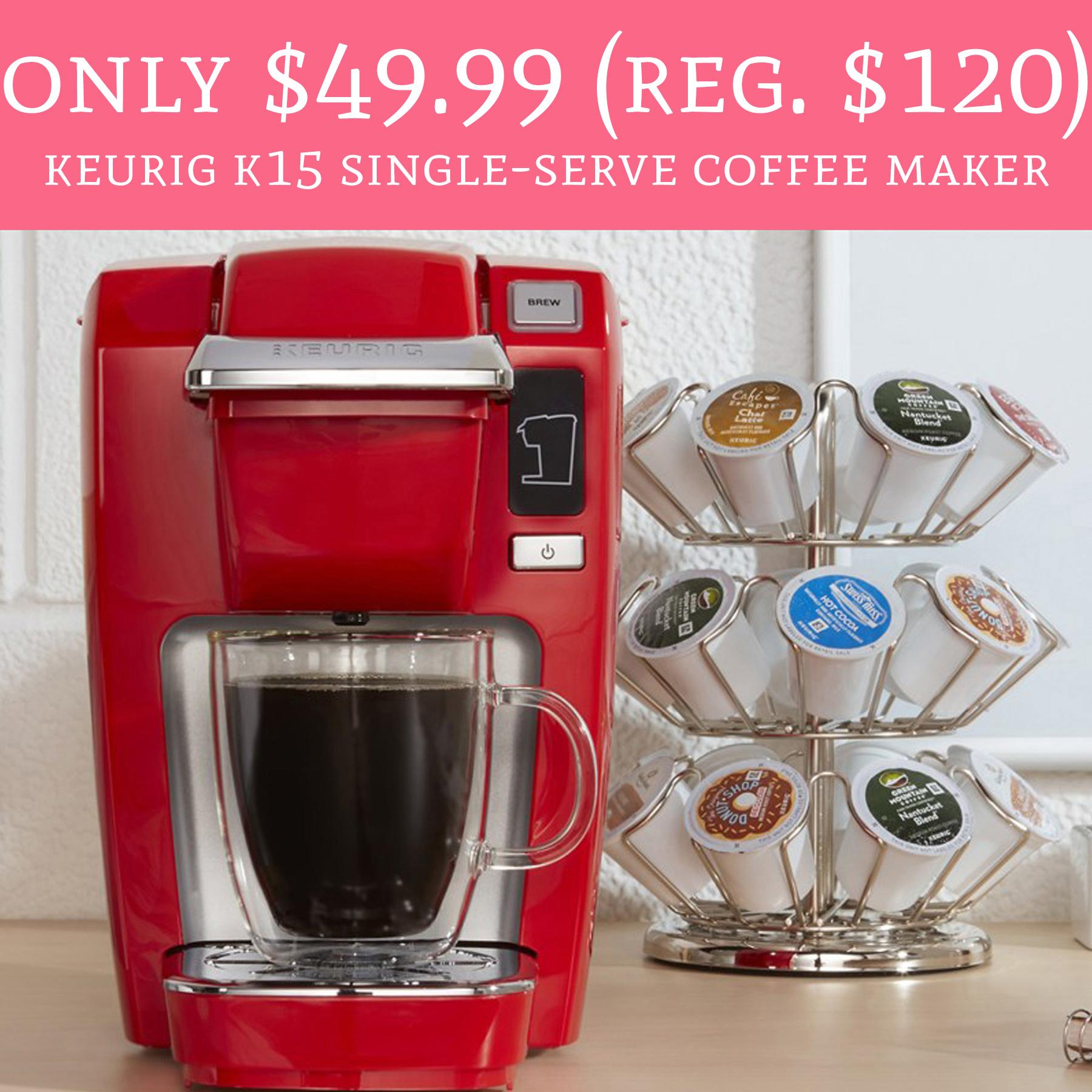 Keurig Coffee Maker On Black Friday : RUN! Only USD 49.99 (Regular USD 120) Keurig K15 Single-Serve Coffee Maker - Deal Hunting Babe