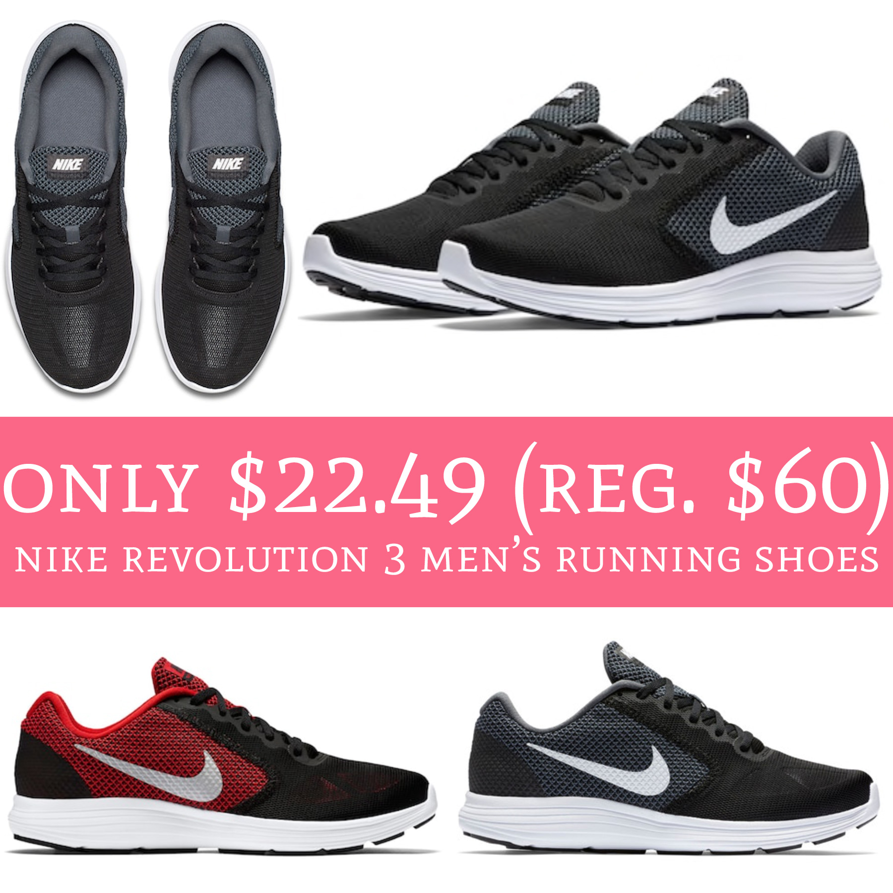 Pre Black Friday Deals are LIVE! Head to Kohl's where you can order Nike  Revolution 3 Men's Running Shoes for just $22.49 ...