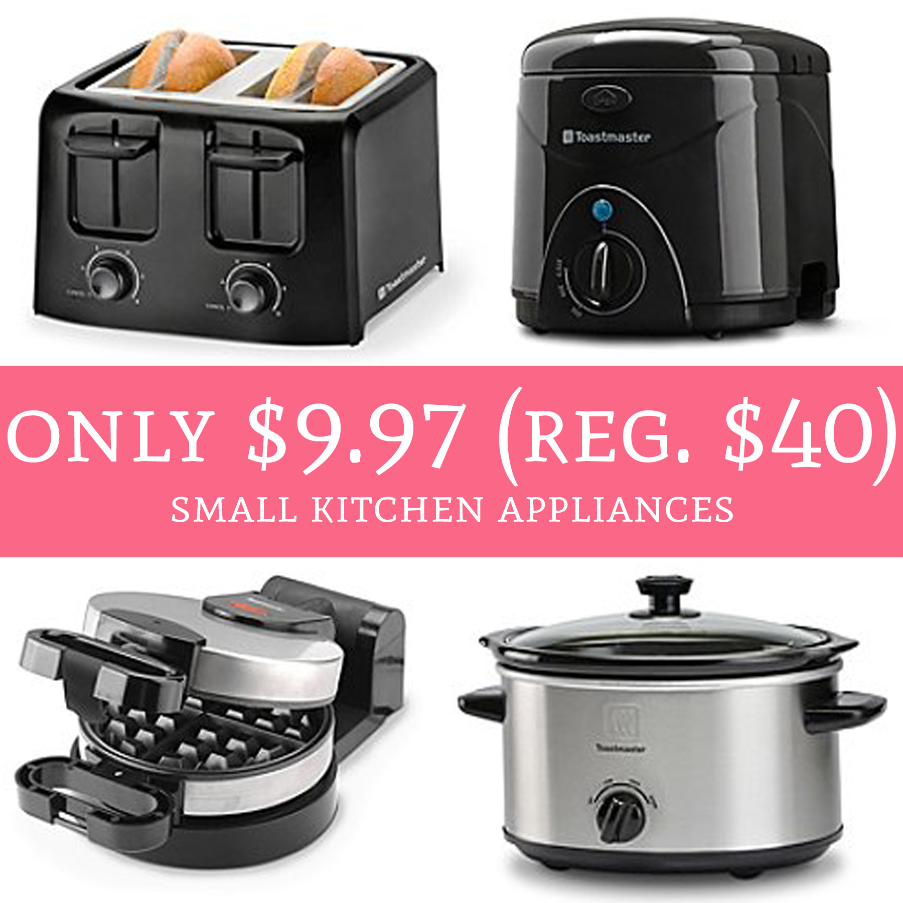 only $9.97 (regular $40) small kitchen appliances - deal hunting babe