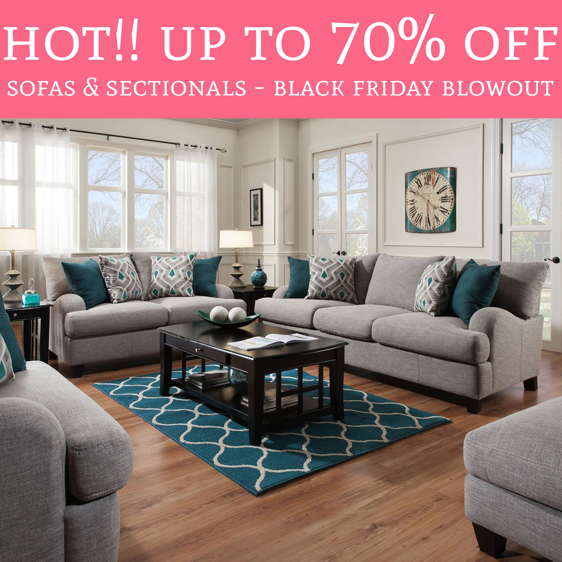 HOT!! Black Friday Blowout Sale! Up To 70% Off Sofas