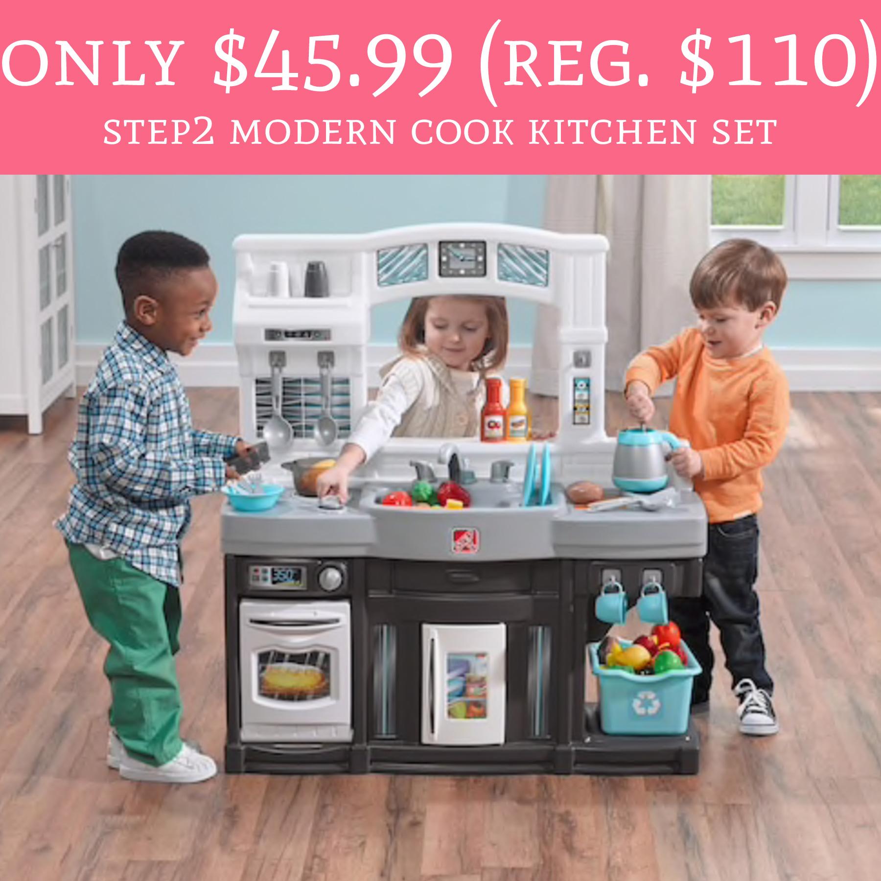 Only regular 110 step2 modern cook kitchen set for Kitchen set list