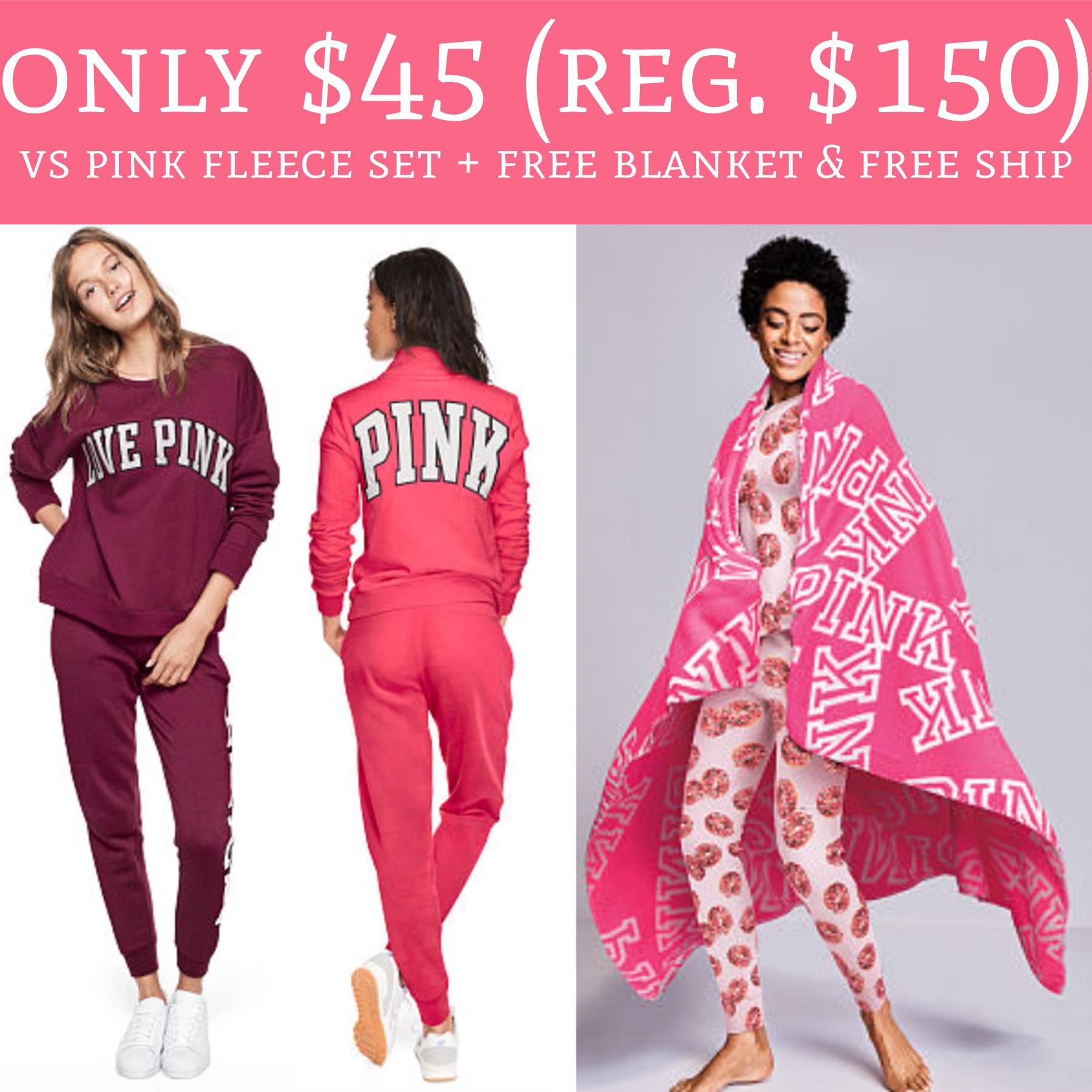 run  only  45  regular  150  victoria u0026 39 s secret pink fleece