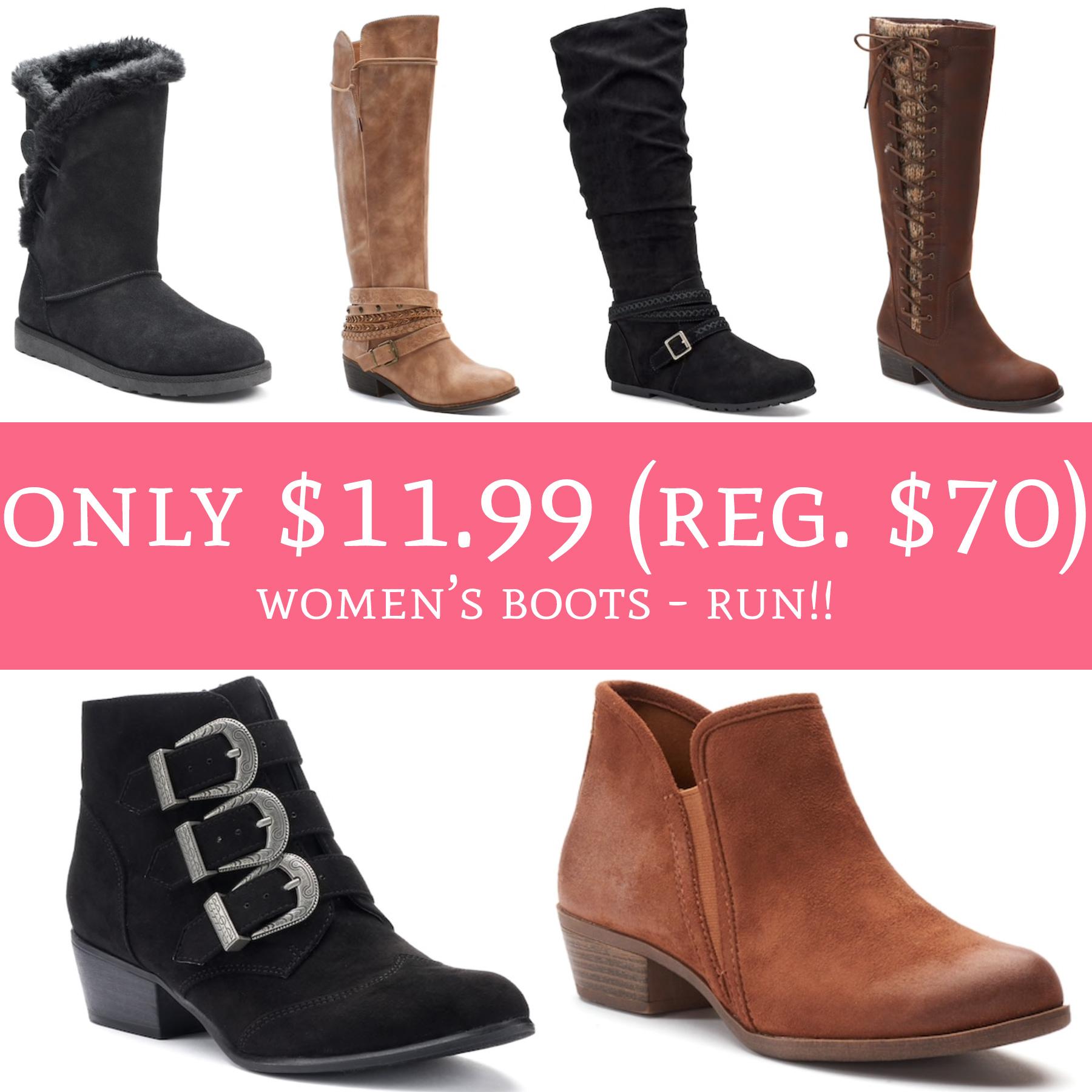 kohls womens leather boots \u003e Up to 72