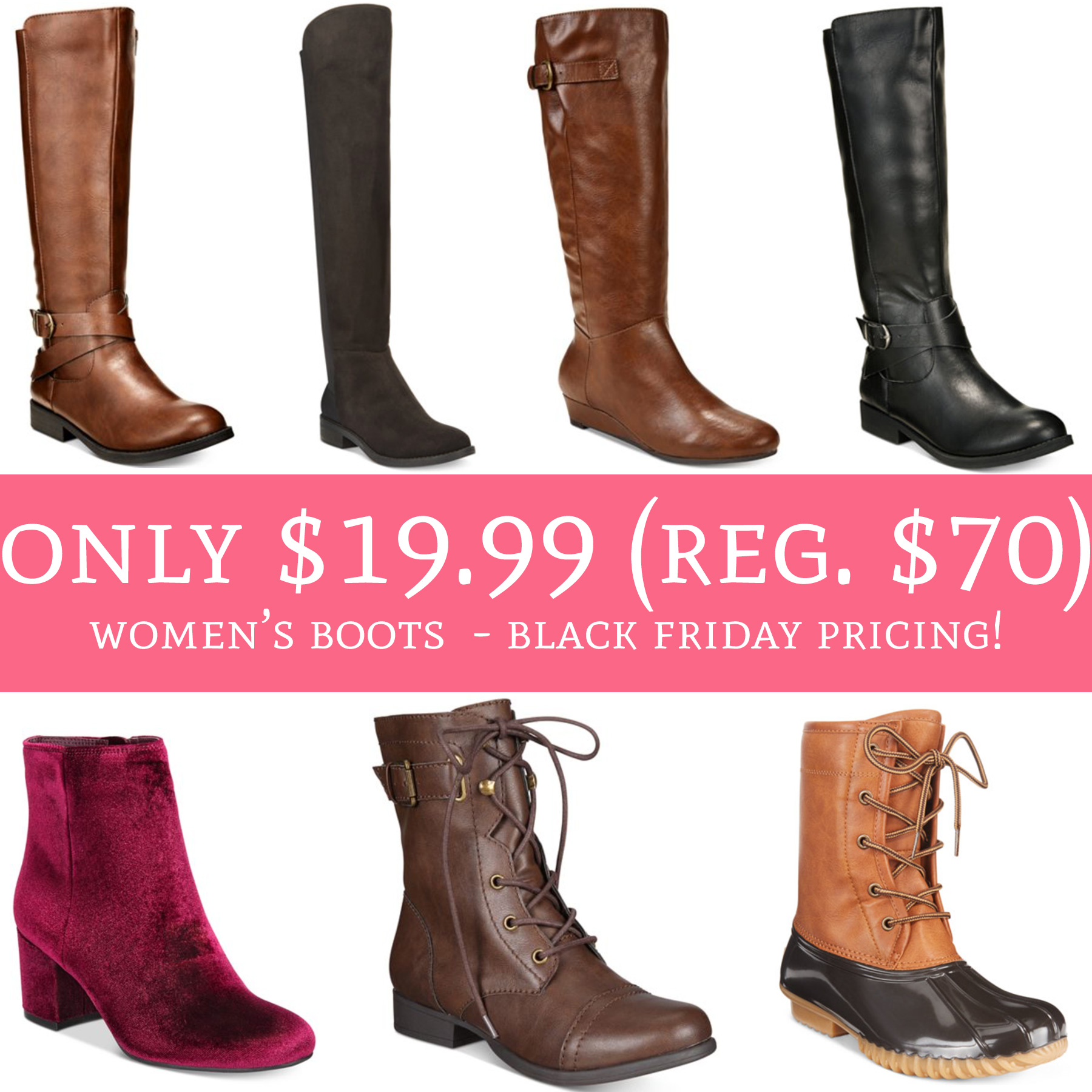 78a6a20f48b Black Friday Pricing! Only $19.99 (Regular $70) Women's Boots - Deal ...