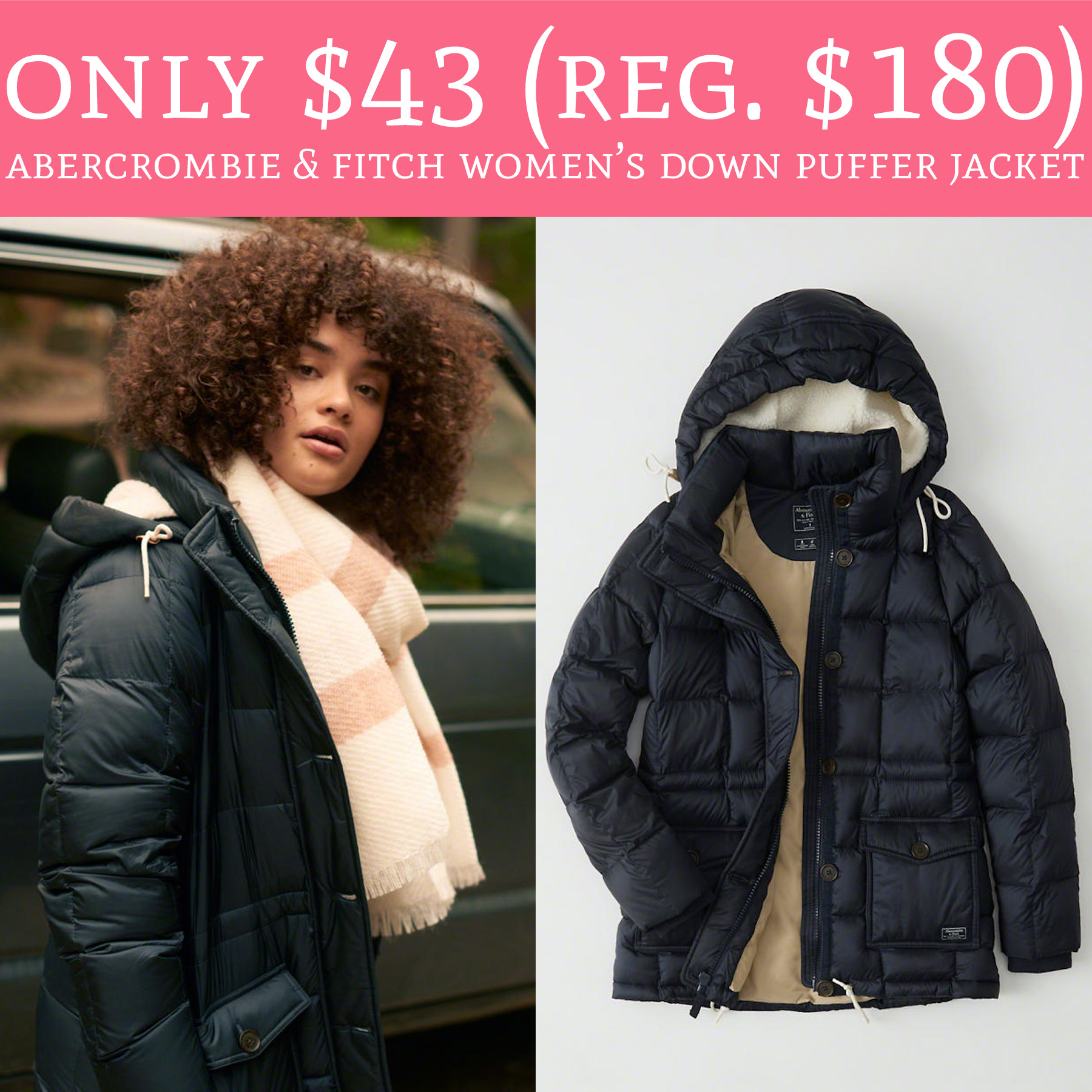Abercrombie Fitch Accessories Abercrombie Fitch Womens: Only $43 (Regular $180) Abercrombie & Fitch Women's Down