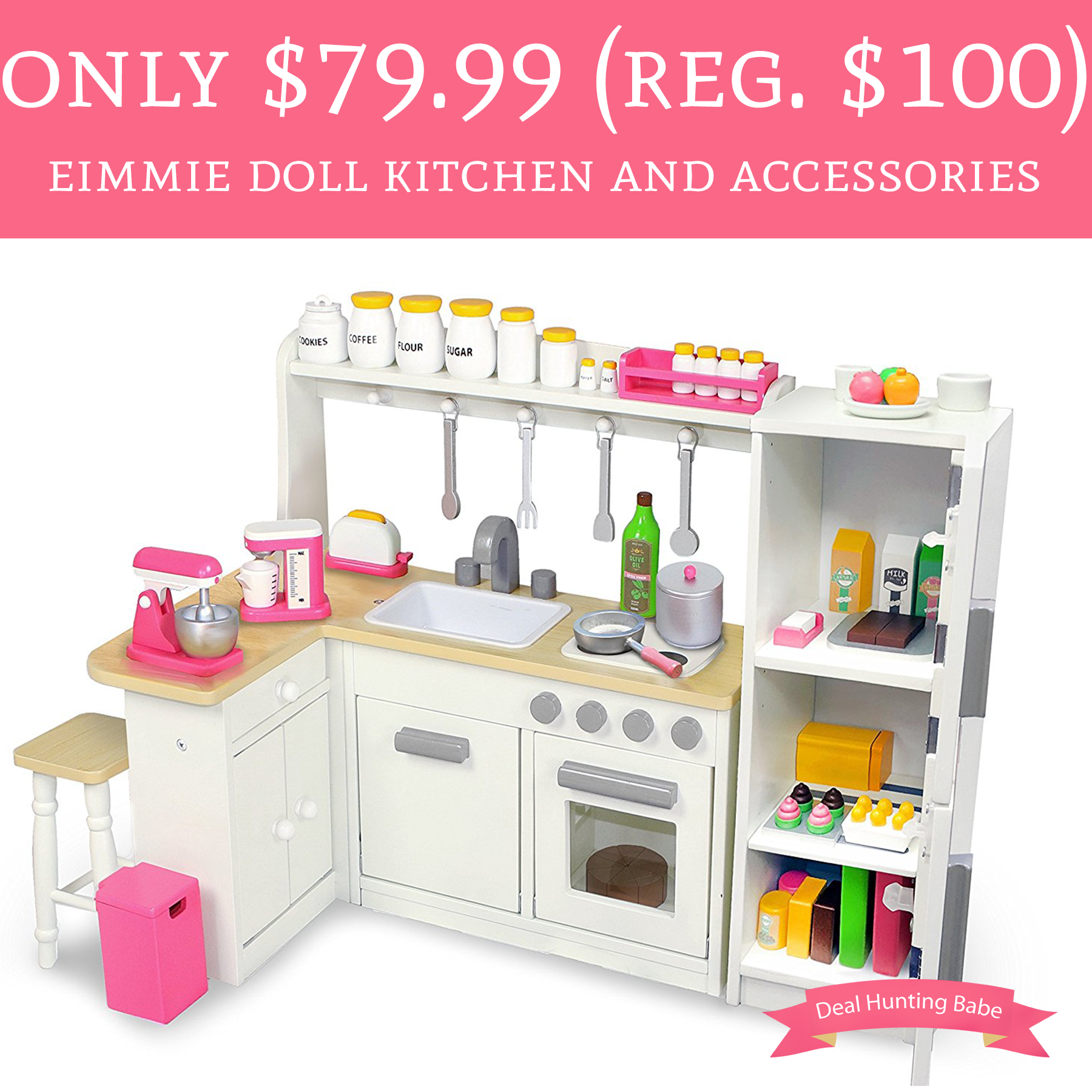 Only $79.99 (Regular $100) Eimmie Doll Set with Refrigerator and ...
