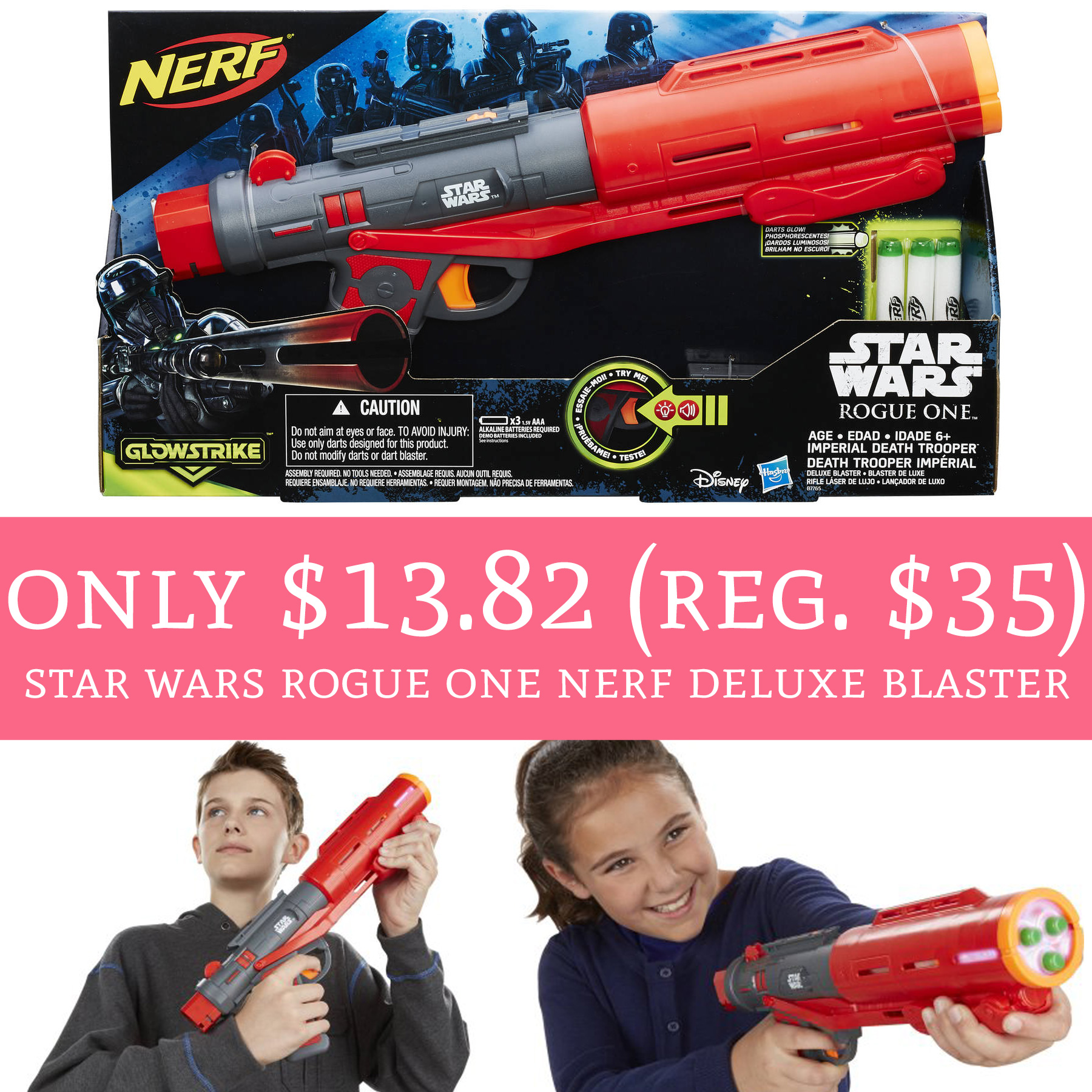 Do you have a Nerf fan?! Check out this sweet deal on Star Wars Rogue One  ...