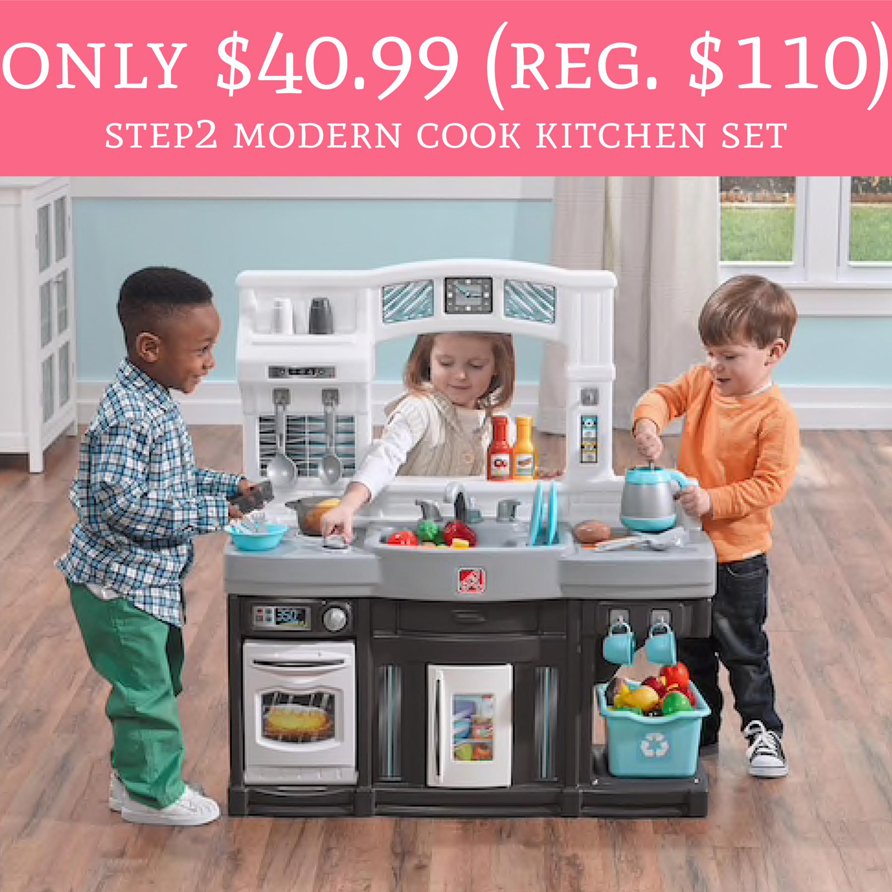 HOT ly Regular Step2 Modern Cook Kitchen Set