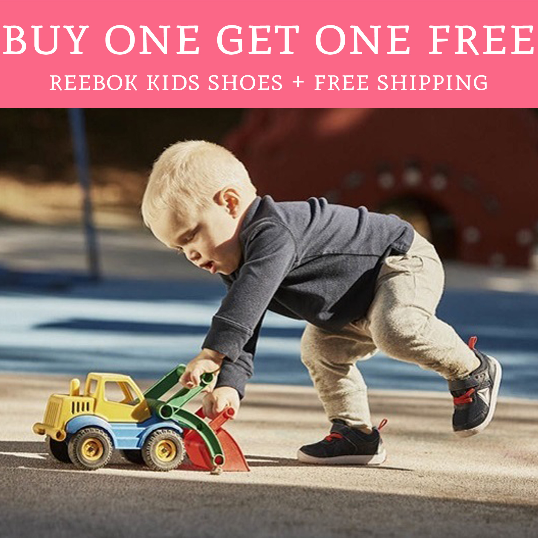 3dea318f45b Buy One Get One Free Reebok Kids Shoes + Free Shipping - Deal ...