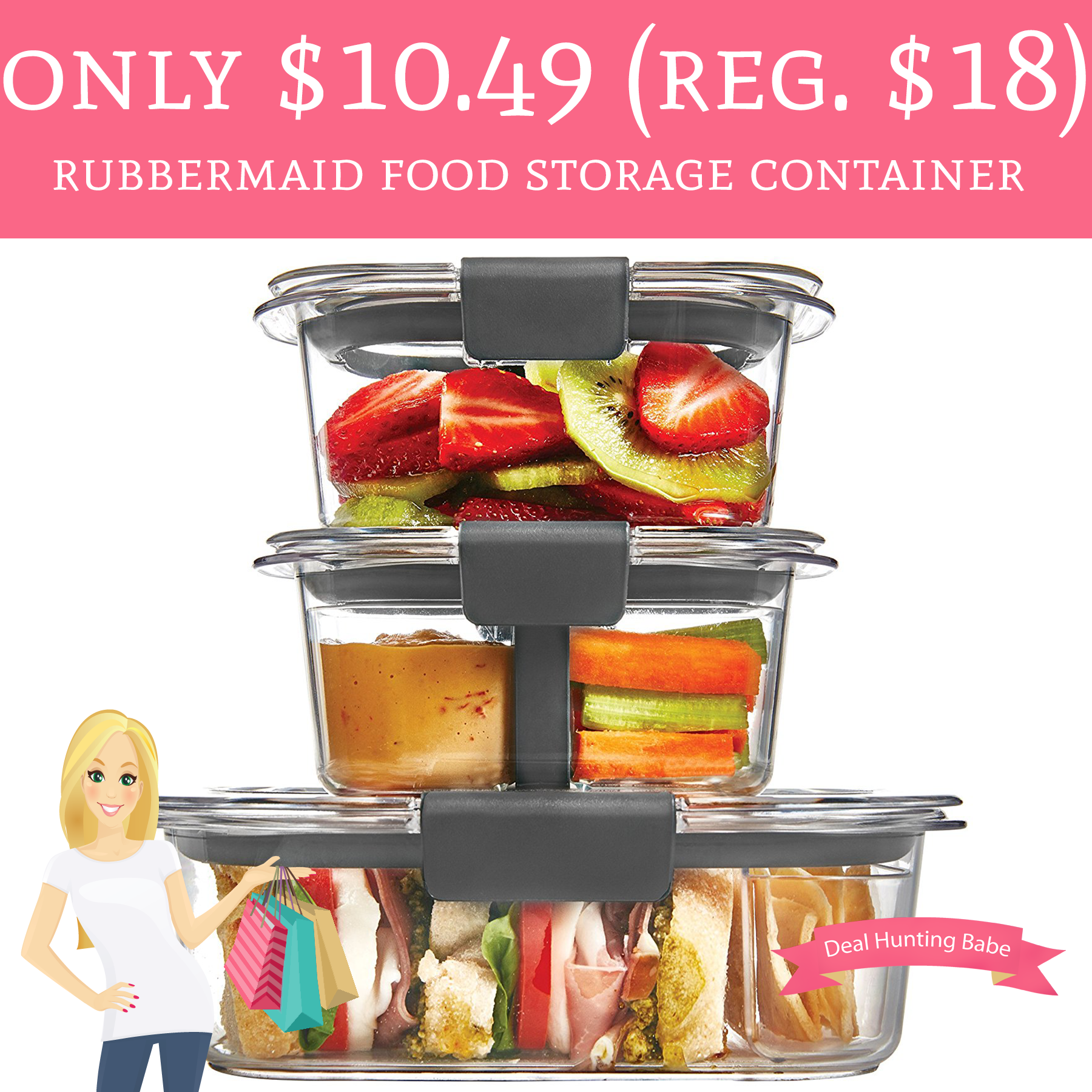 Only 1049 Regular 18 Rubbermaid Food Storage Container Free
