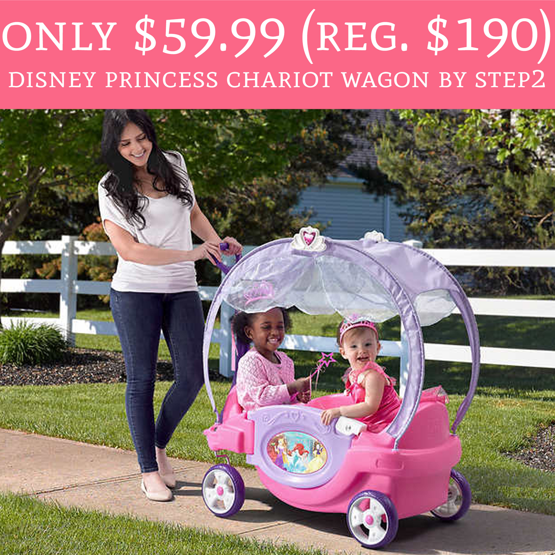 only  59 99  regular  190  disney princess chariot wagon