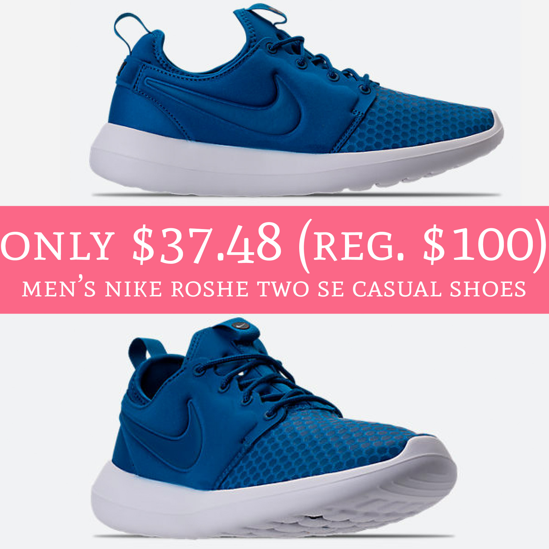 innovative design f4283 991a2 Only $37.48 (Regular $100) Men's Nike Roshe Two SE Casual ...