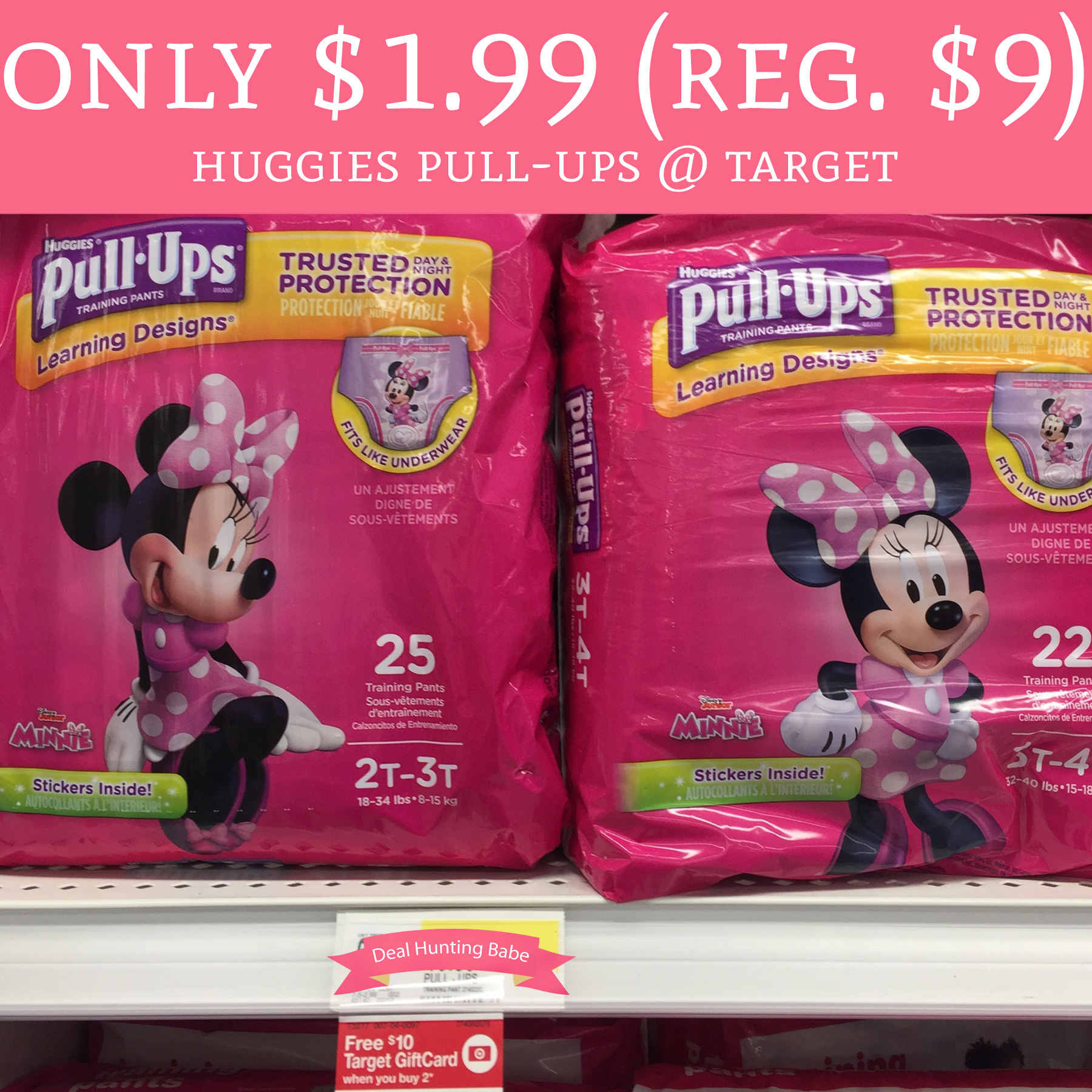 PRINT! Only $1 99 (Regular $9) Huggies Pull-Ups @ Target