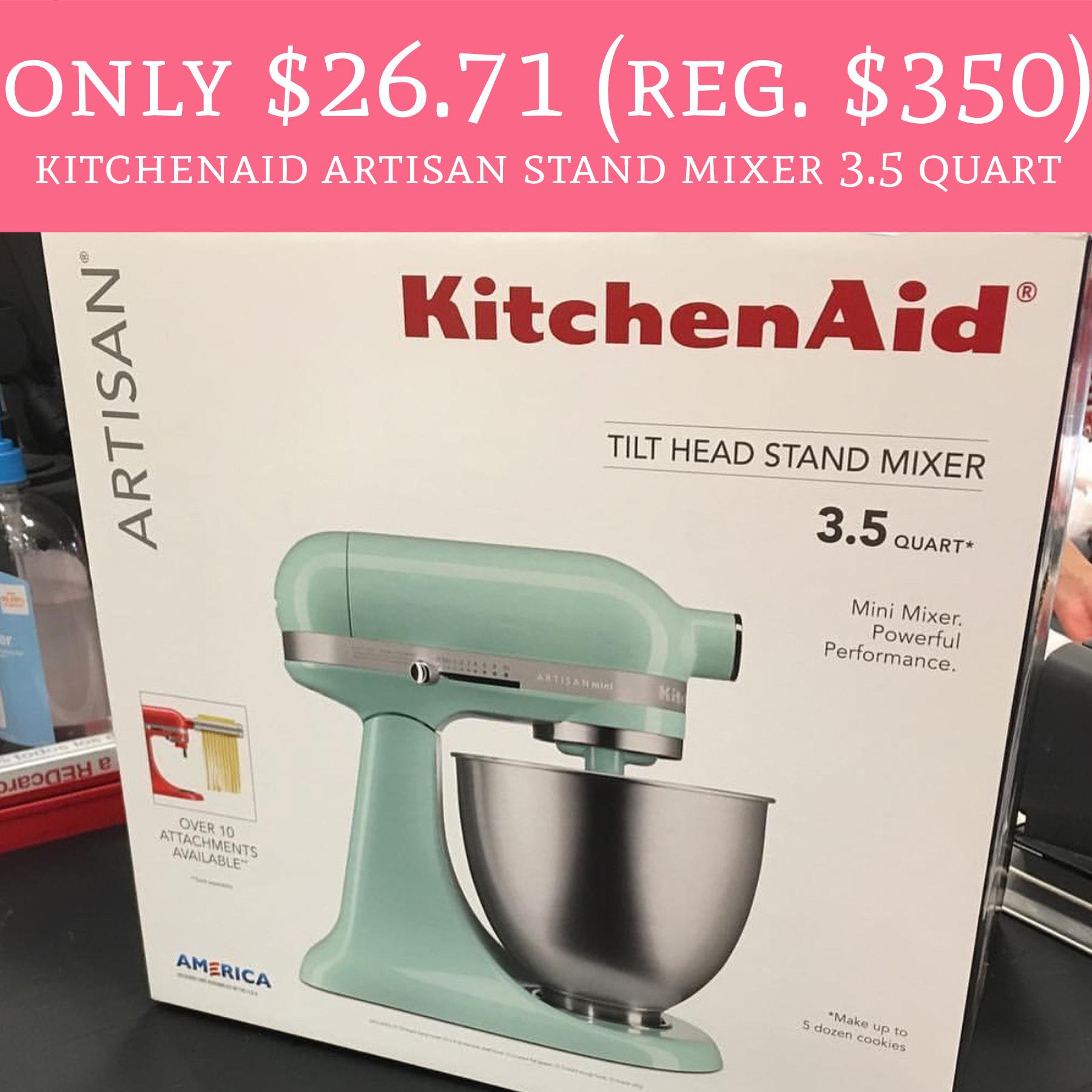 Only 26 71 Regular 350 Kitchenaid Artisan Stand Mixer 3 5 Quart Deal Hunting Babe