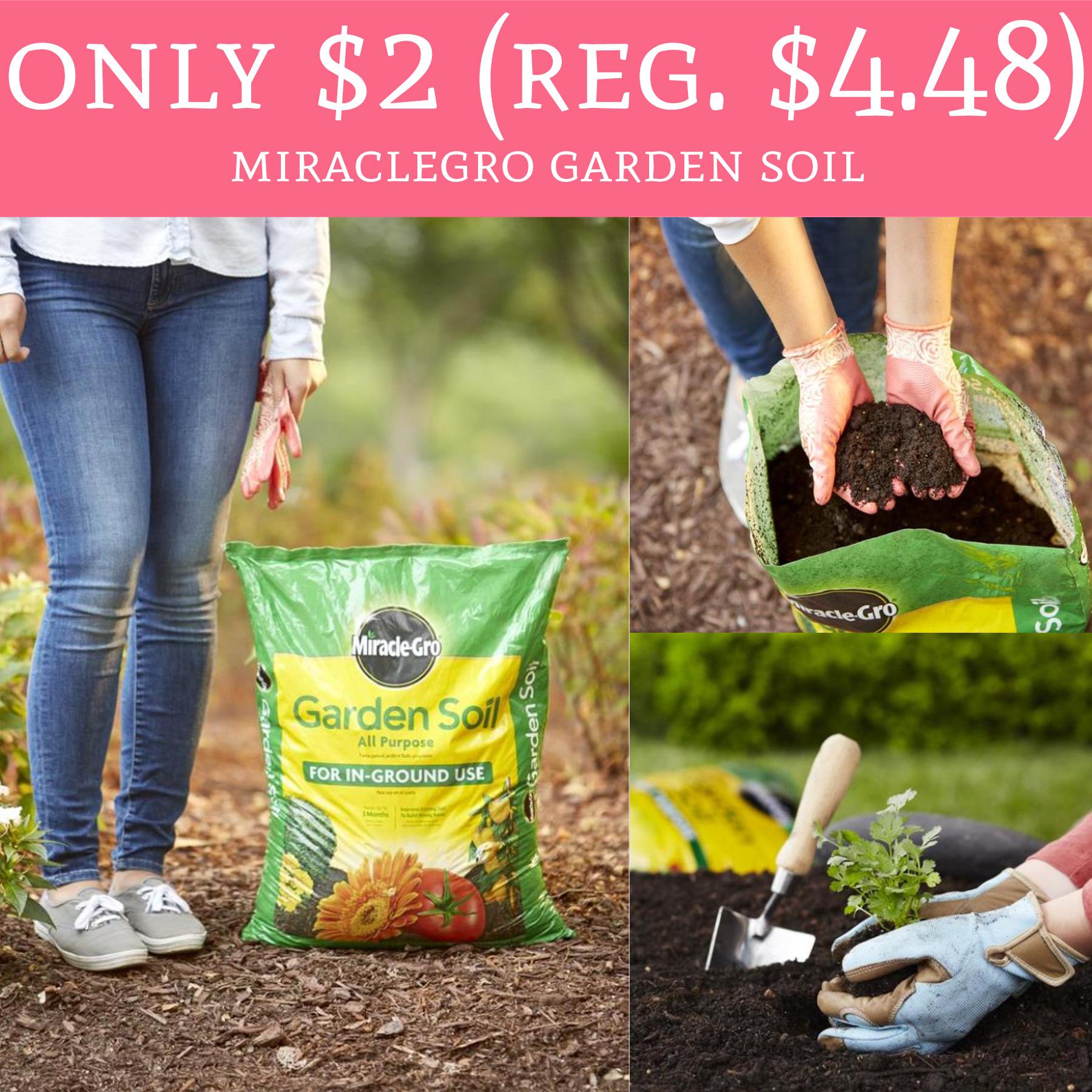Hot only 2 regular miraclegro garden soil free for Garden soil deals